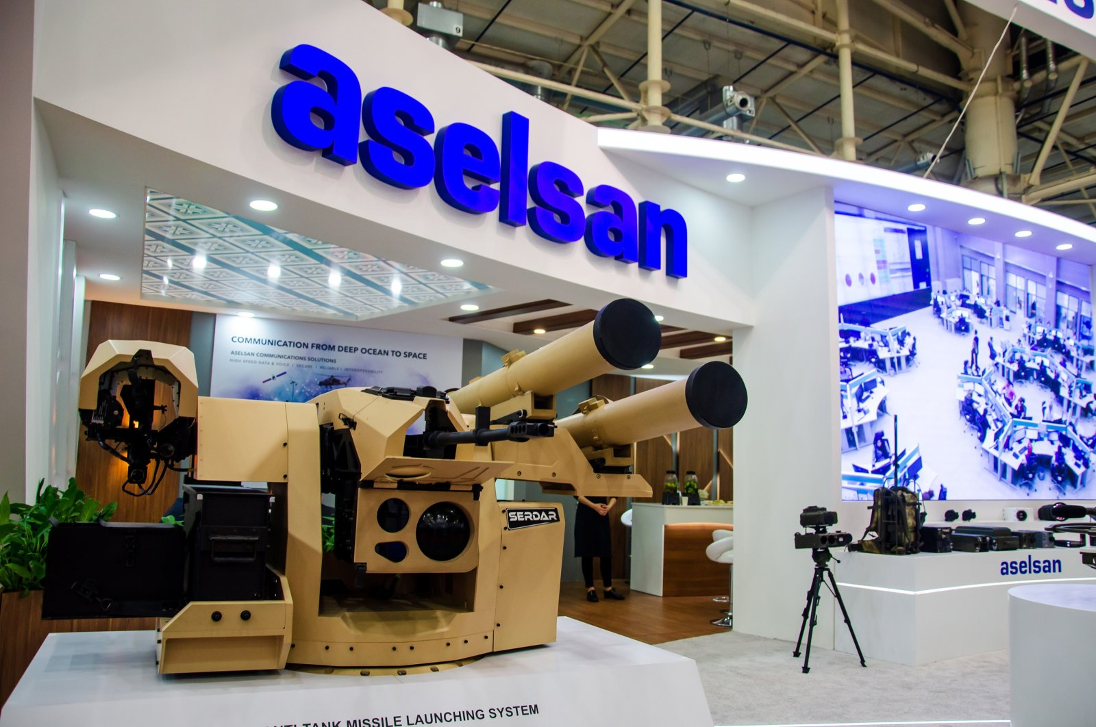 An ASELSAN missile launching system on display at a fair in Kyiv, Ukraine, Oct. 9, 2019. (Shutterstock Photo)