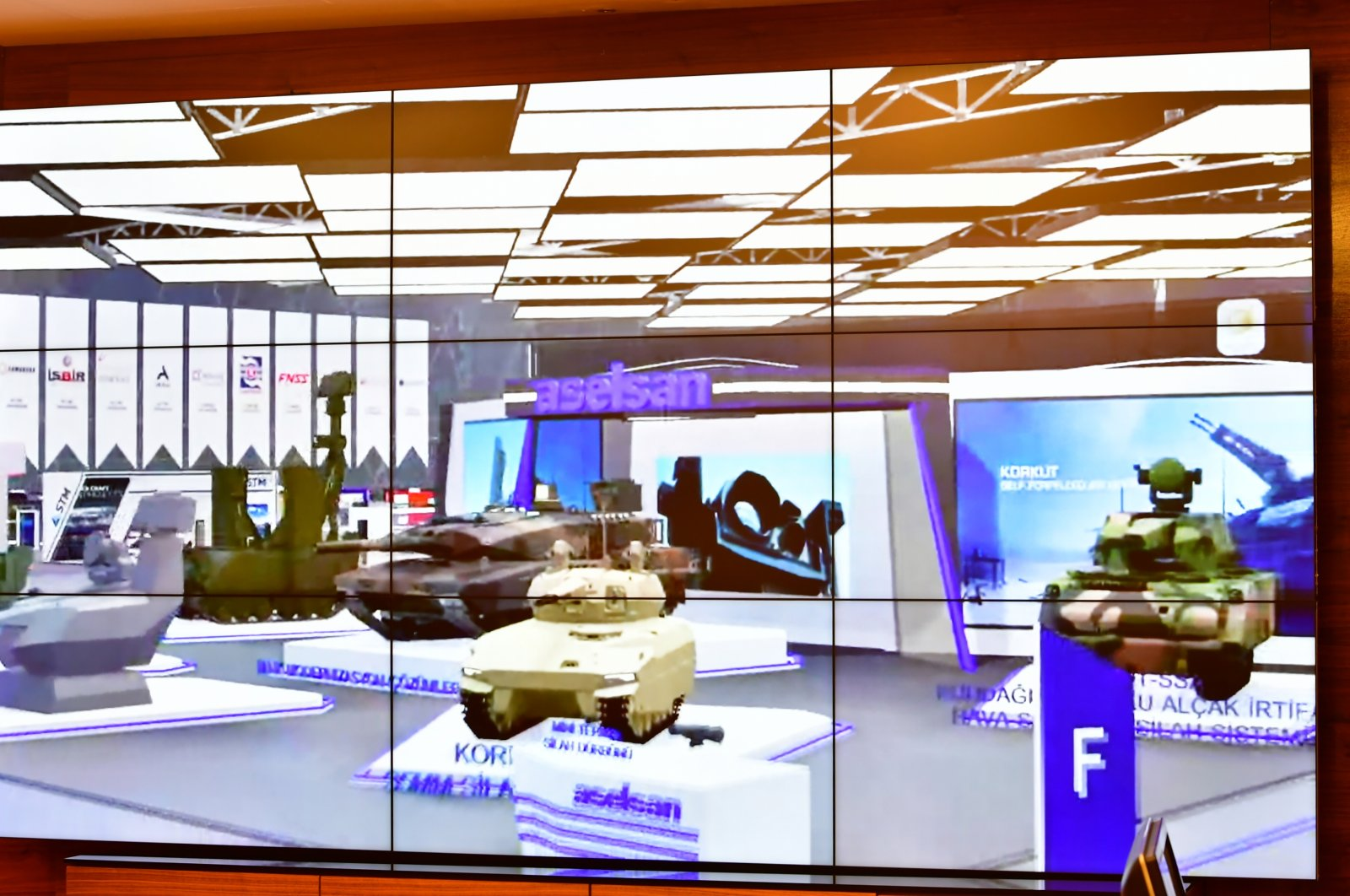 Defense products of Turkish firms are seen during the virtual defense fair SAHA Expo, Nov. 9, 2020. (AA Photo)