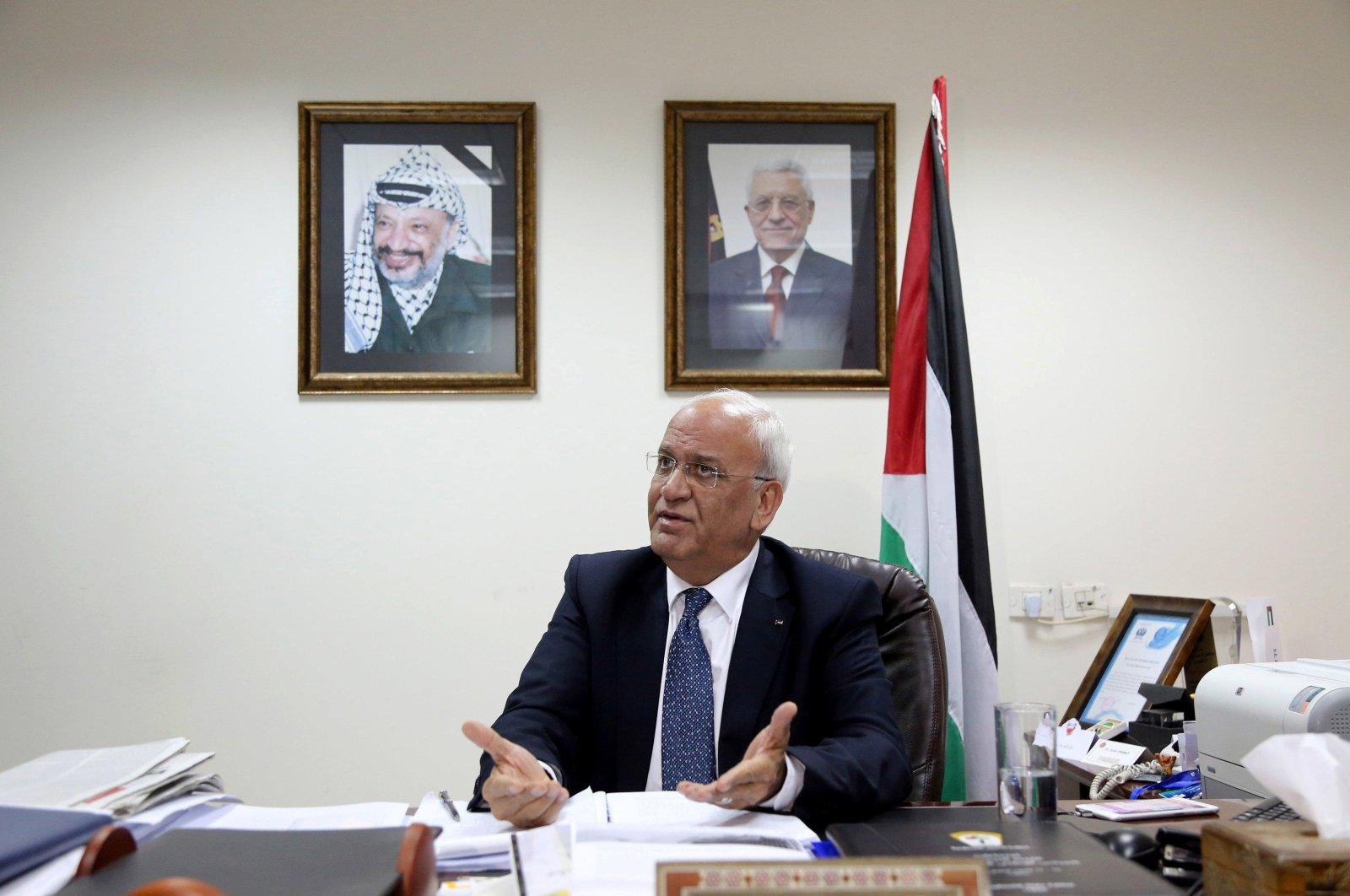 Palestinian chief negotiator Saeb Erekat.