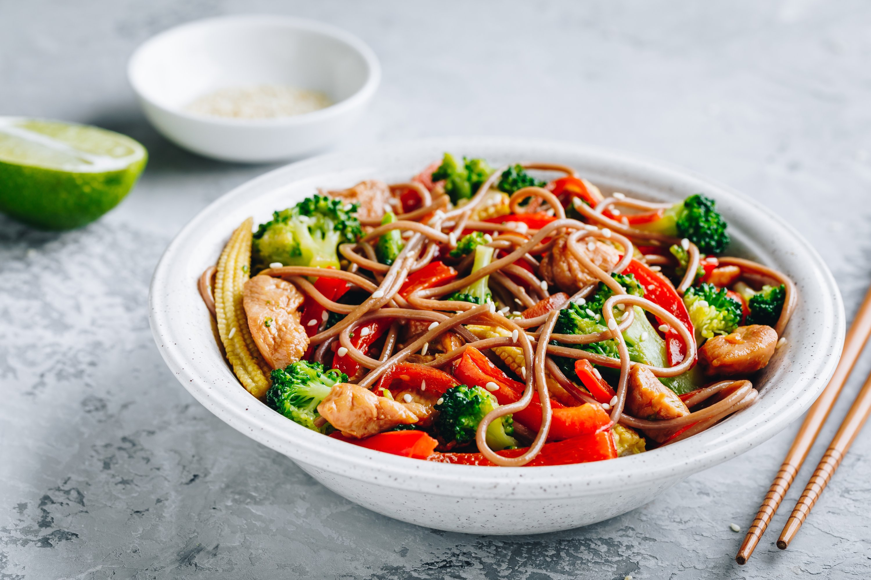 Try adding broccoli and red peppers to your noodles and stir-frys for extra oomph. (Shutterstock Photo)