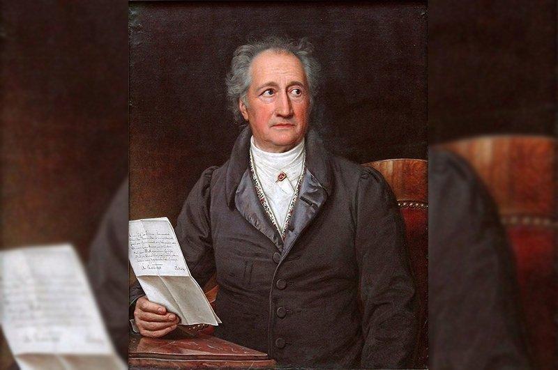 A portrait of Johann Wolfgang von Goethe by German painter Joseph Karl Stieler in 1828.