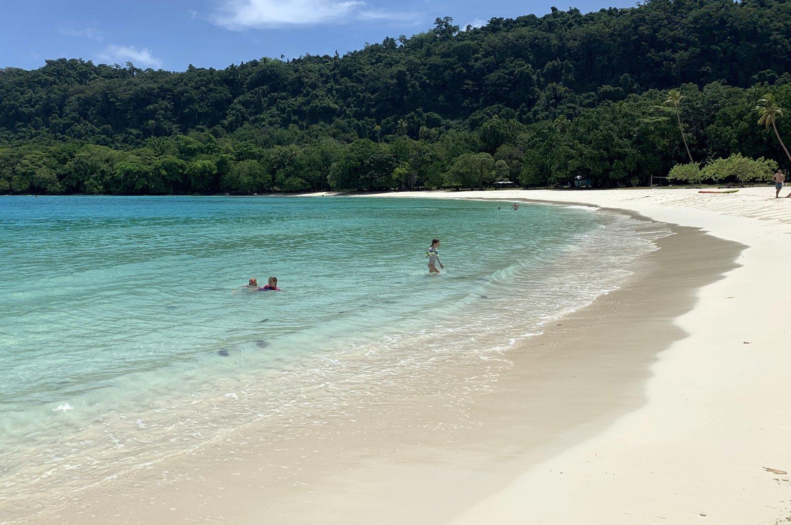 Champagne Beach on the island of Espiritu Santo, Vanuatu, Jan. 9, 2020. (AAP via Reuters)