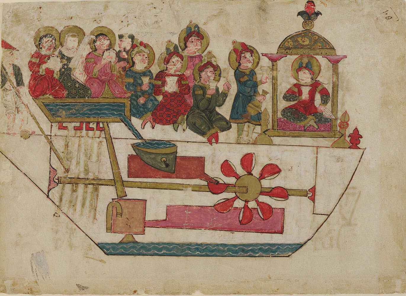 A musical toy from a copy of al-Jazari's treatise on automata