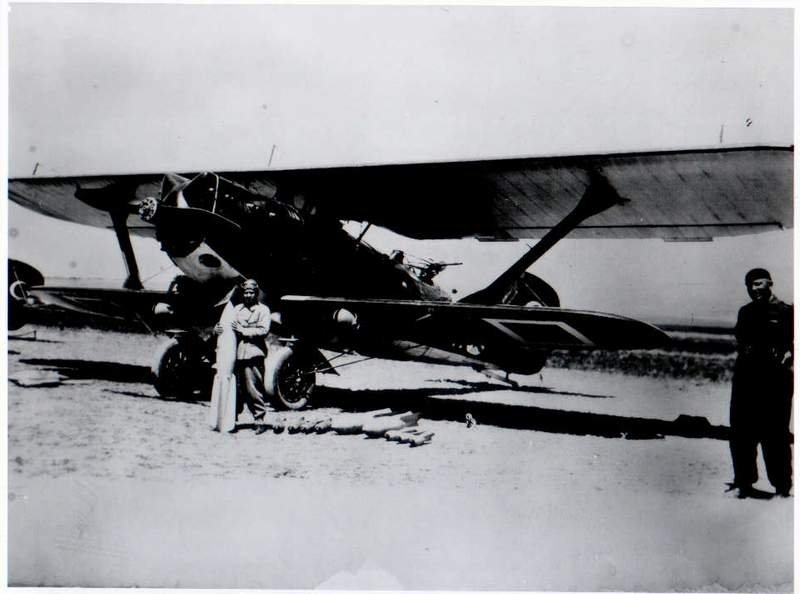 Sabiha Gökçen poses with her Breguet 19, in this photo dated 1937-1938. (via WIKIMEDIA COMMONS