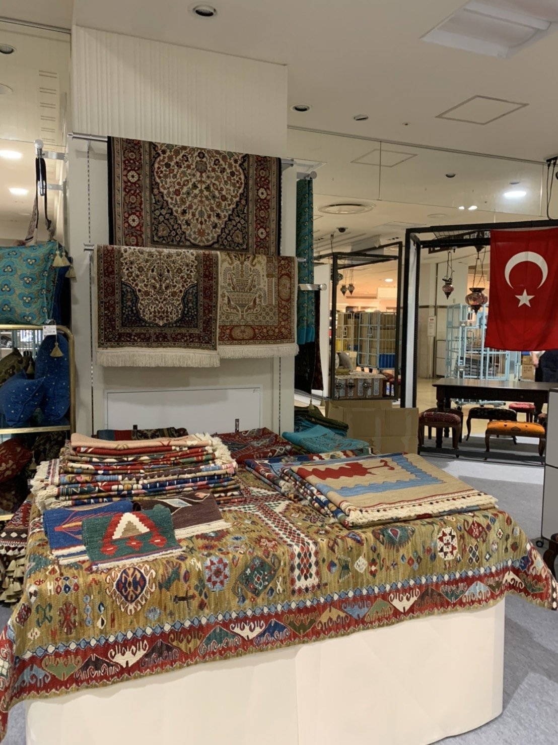 Woven Turkish rugs are seen at the exhibition in Nagoya, Japan, Nov. 12, 2020. (AA Photo)