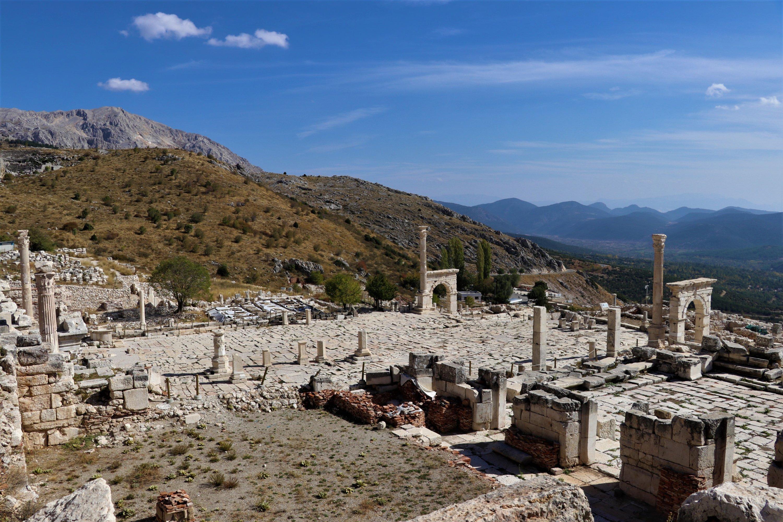A general view of the ancient city of Sagalassos, Burdur province, southwestern Turkey, Nov. 12, 2020. (AA Photo)