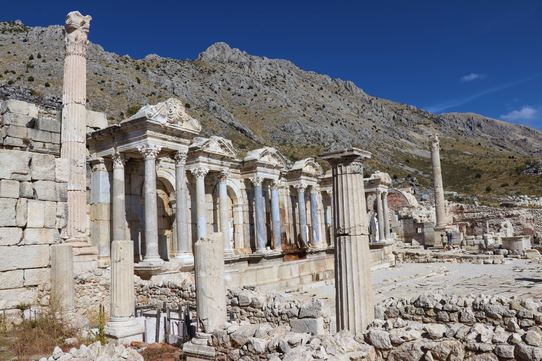 Roman structures at the ancient city of Sagalassos, Burdur province, southwestern Turkey, Nov. 12, 2020. (AA Photo)