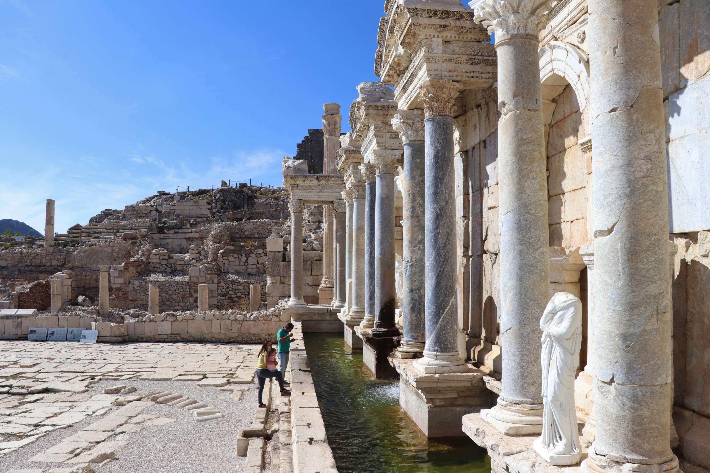 A Hellenistic fountain in the ancient city of Sagalassos, Burdur province, southwestern Turkey, Nov. 12, 2020. (AA Photo)