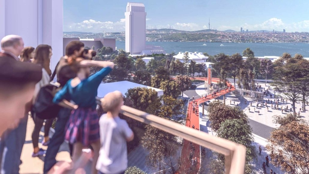 A viewing terrace in the new design of Taksim Square. (COURTESY OF IBB)
