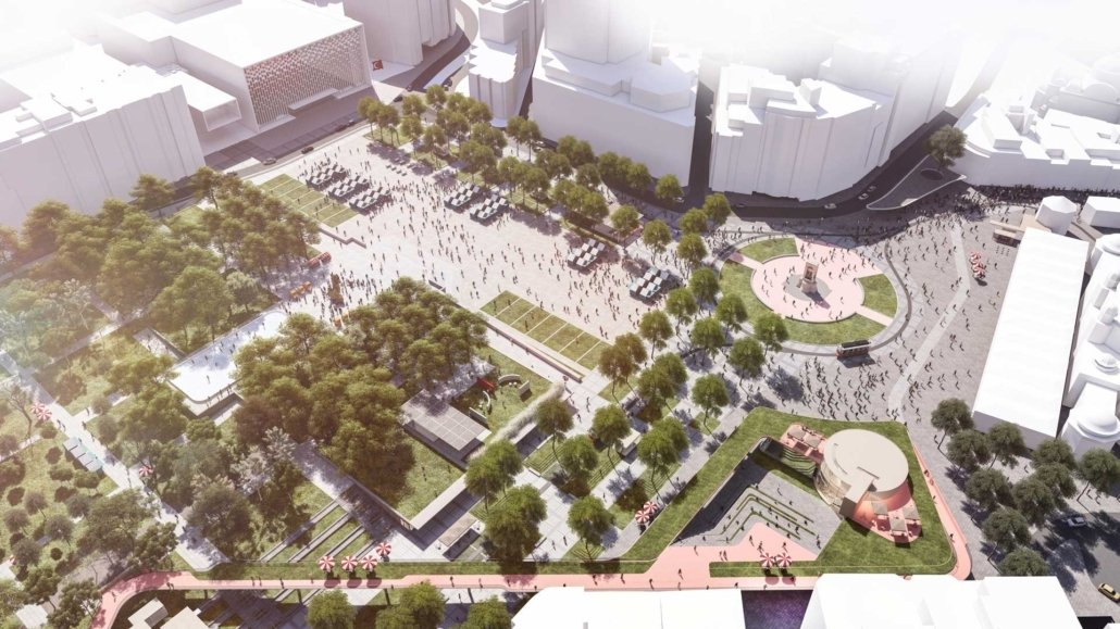 An artist's impression of the redesigned Taksim Square. (COURTESY OF IBB)