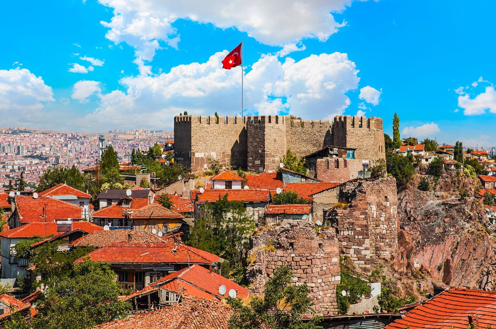 Ankara's imposing citadel can be spotted from any point in the city with a clear view. (Shutterstock Photo)