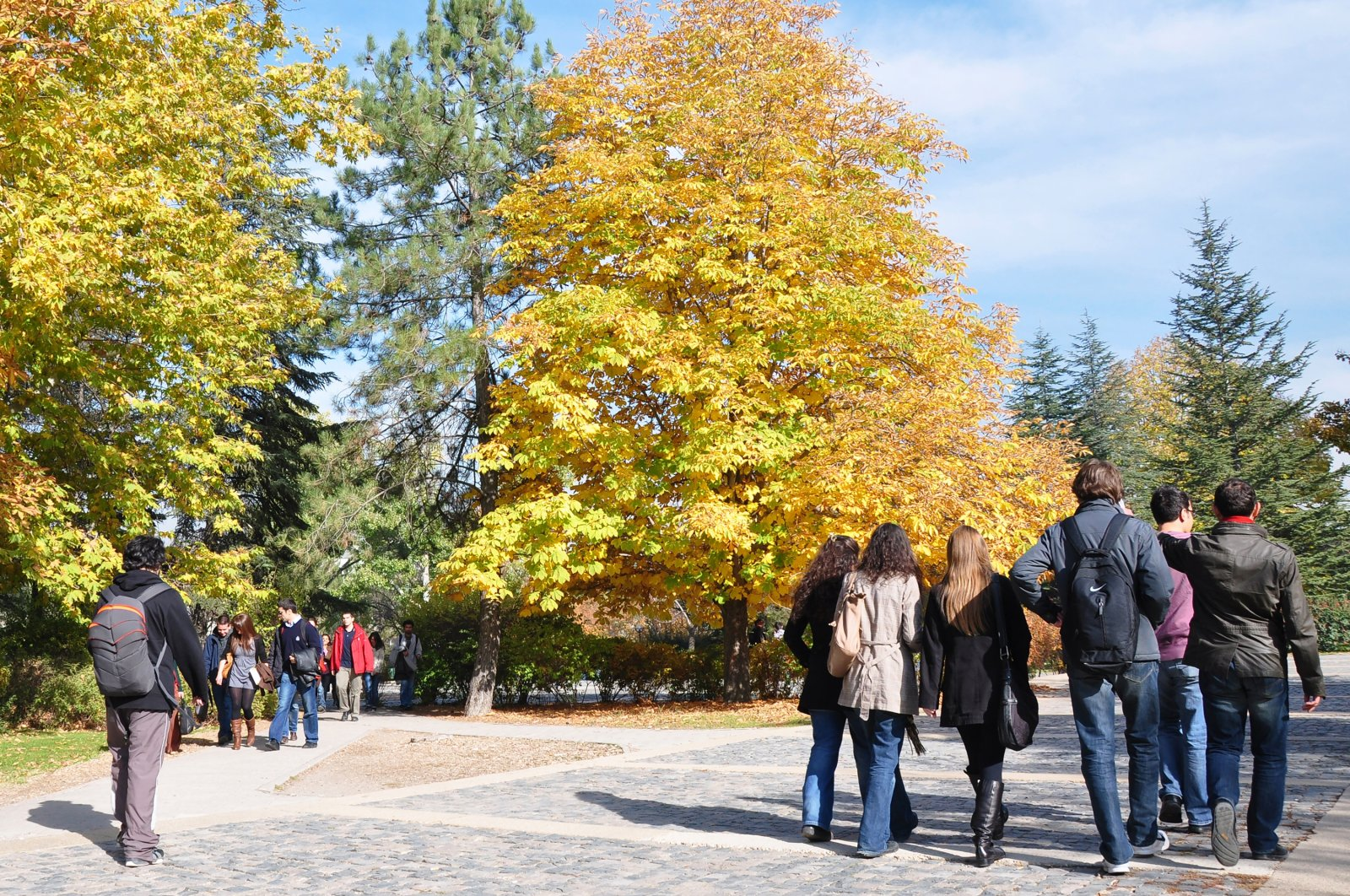 Students are seen on the campus of the Middle East Technical University in the capital Ankara, Turkey, Nov. 12, 2019. (Shutterstock Photo)