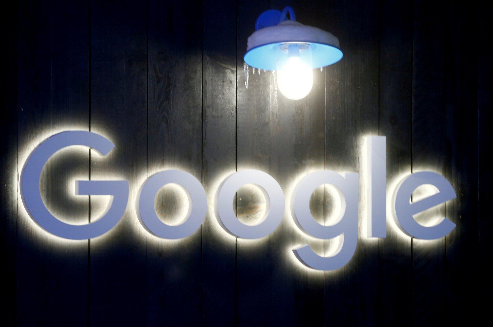 The logo of Google is seen in Davos, Switzerland, Jan. 20, 2020. (Reuters Photo)