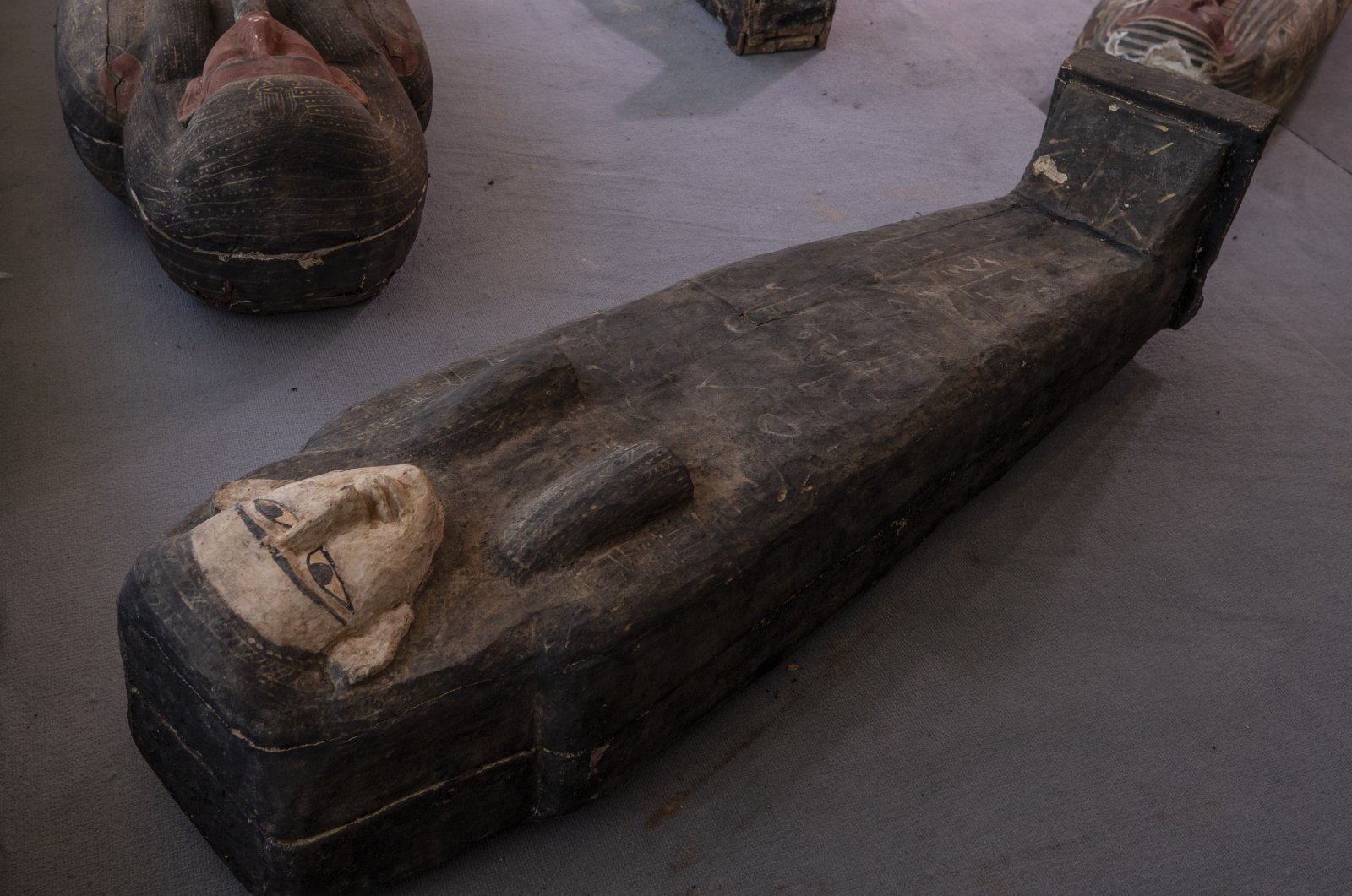 Ancient sarcophagus more than 2,500 years old discovered in a vast necropolis in Saqqara, Giza, Egypt, Nov. 14, 2020. (AP Photo)