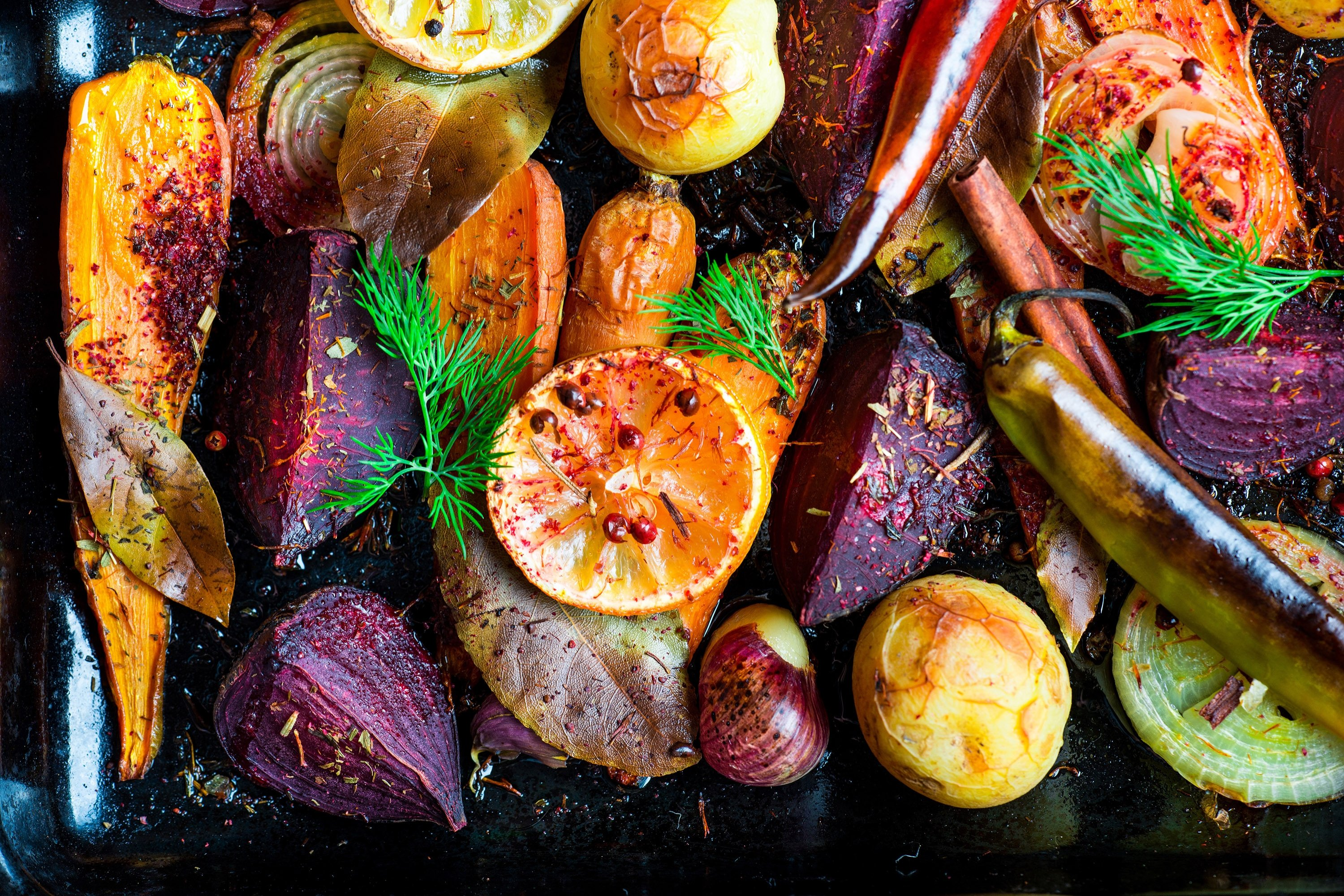 One of the best ways to use fall's colorful vegetables is to bake them in the oven with a bit of olive oil. (Shutterstock Photo)