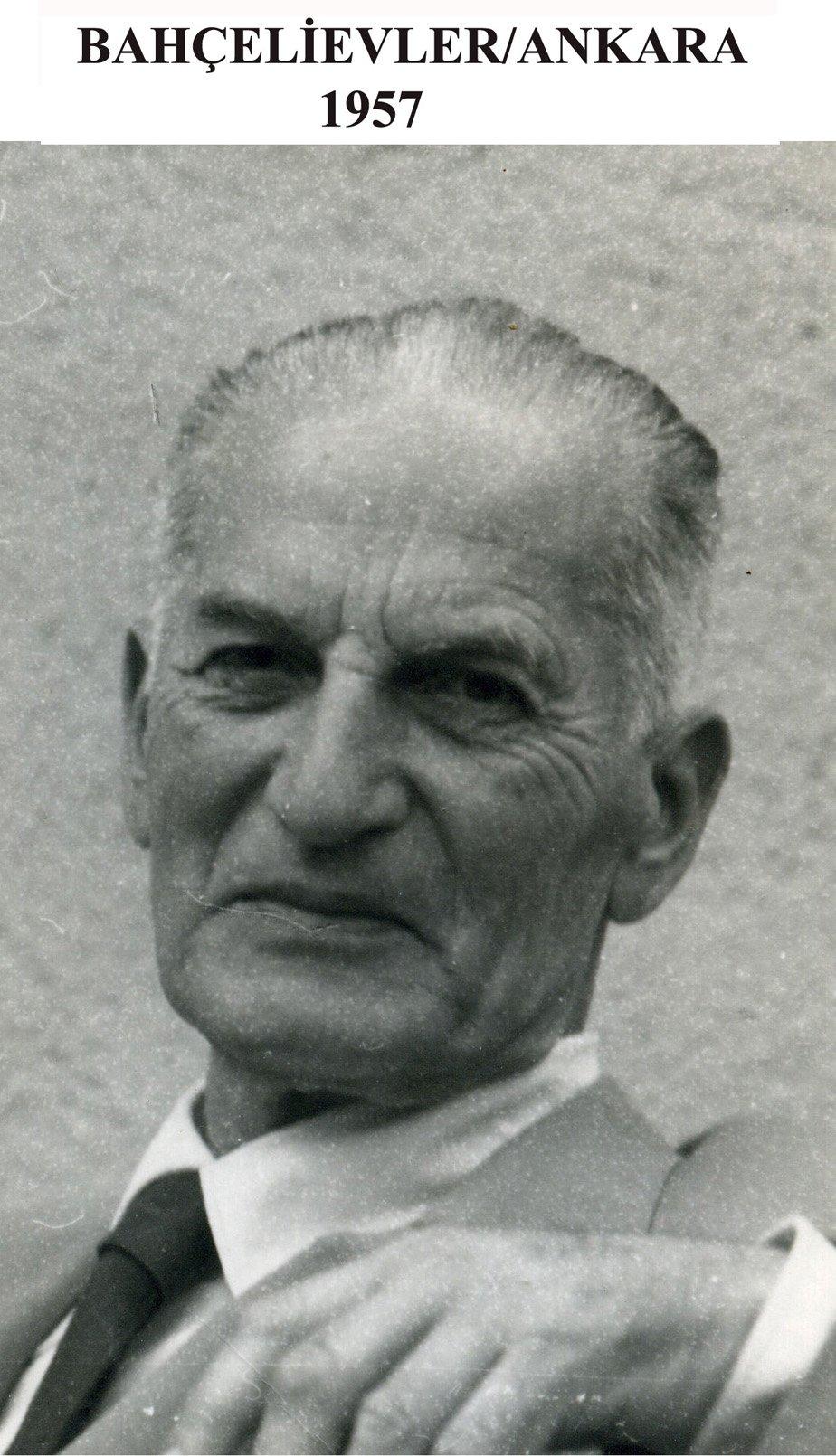 A 1957 photo of Ismayıl Hakkı Baltacıoğlu in Ankara, where he was assigned as a professor at the Language-History and Geography Faculty of Ankara University in 1942. (Courtesy of Hatçe Baltacıoğlu)
