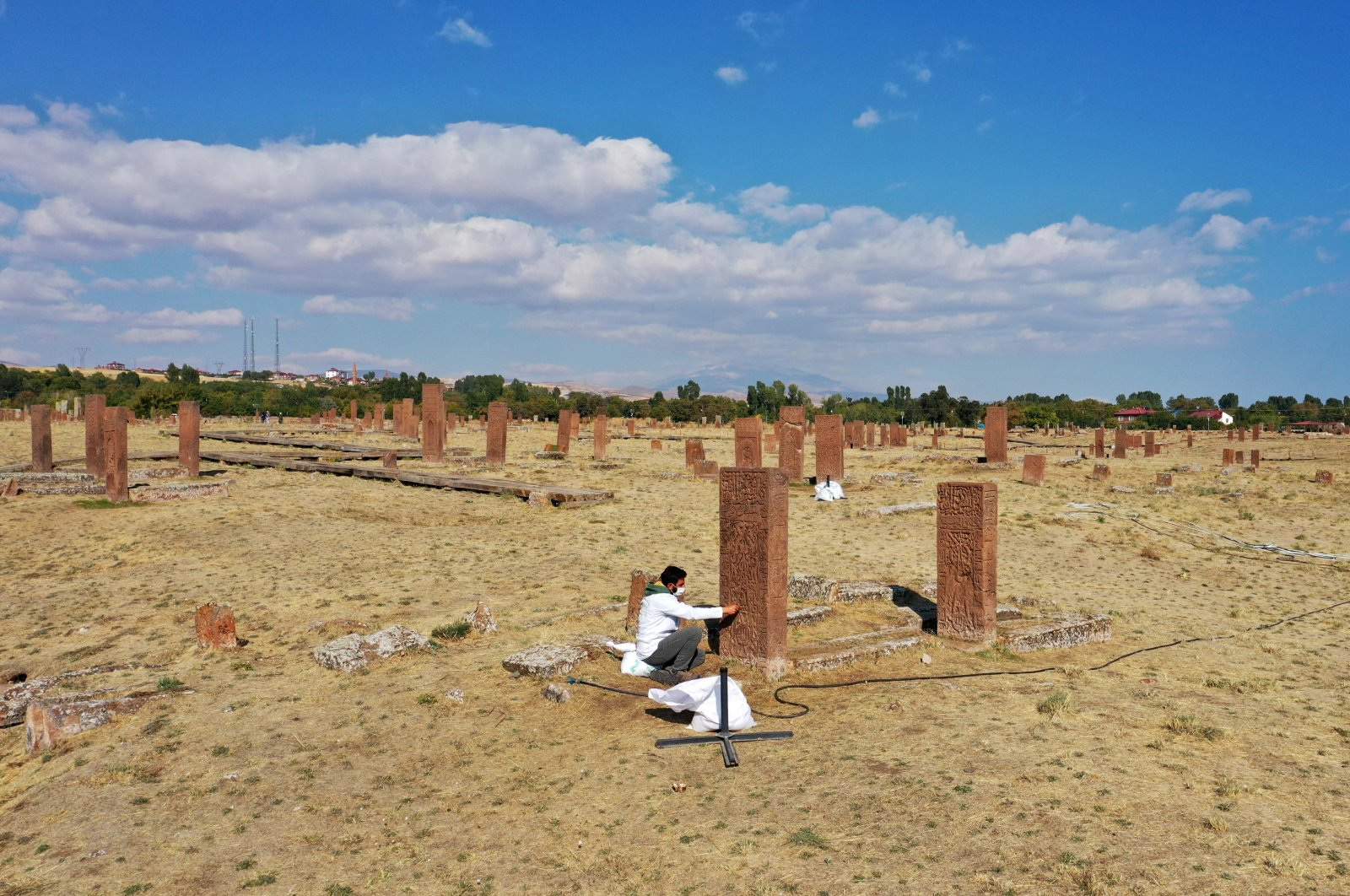 A general view from the Seljuk Meydan Cemetery, Bitlis, eastern Turkey, Nov. 12, 2020. (AA PHOTO)