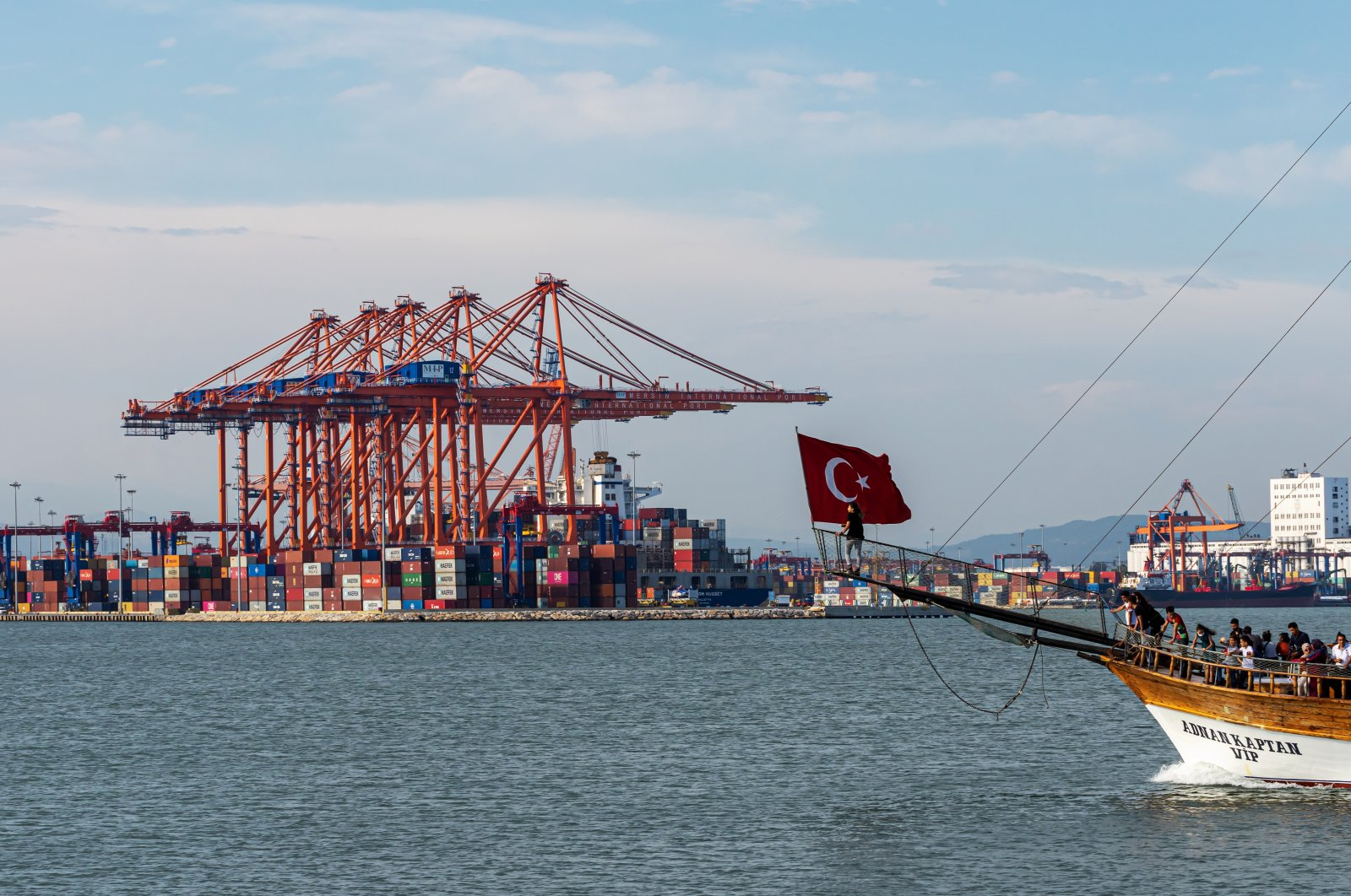 Containers seen at the Mersin International Port (MIP) in southern Mersin province, Turkey, June 14, 2020. (Shutterstock Photo by Can Aran)