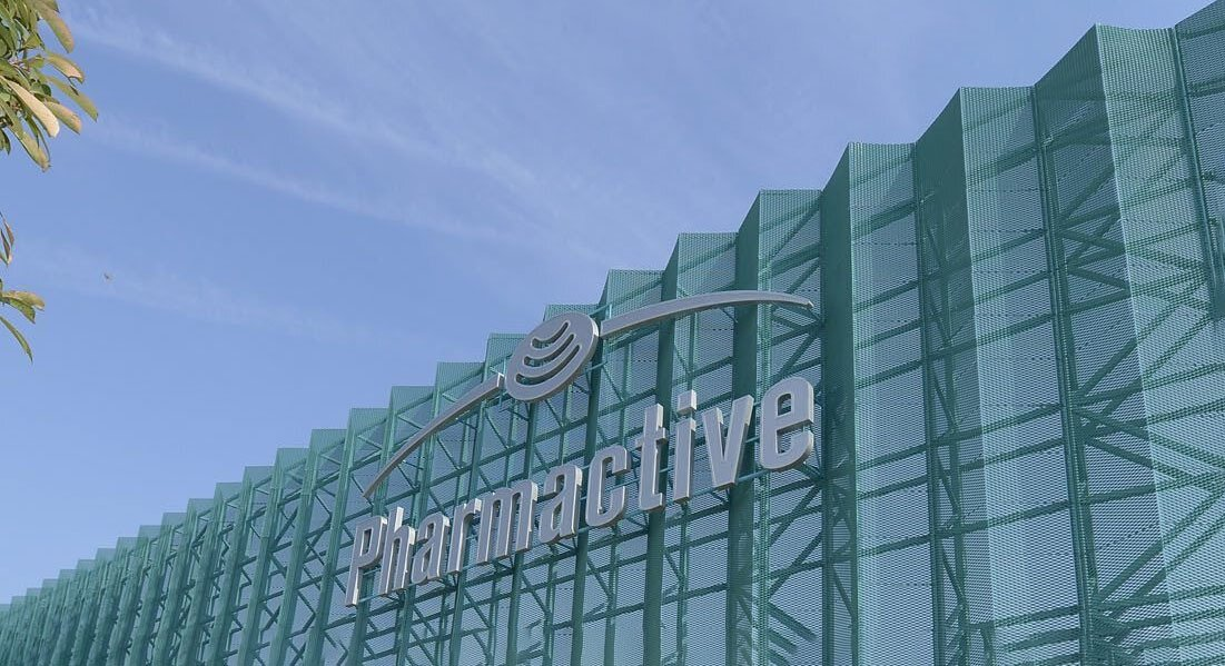 The Pharmactive Ilaç logo is displayed at its facility in northwestern Tekirdağ, Turkey, in file photo from Sept. 30, 2013. (Sabah Photo)