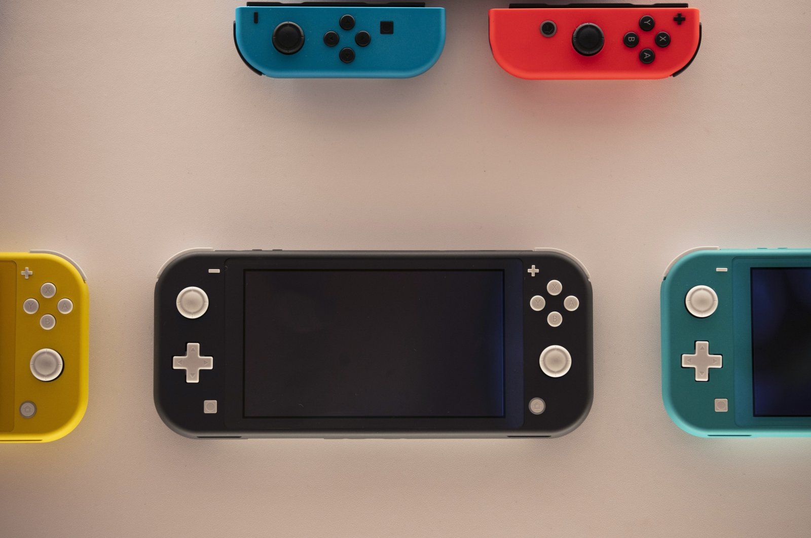 Nintendo Switch game consoles are on display at Nintendo's official store in the Shibuya district of Tokyo, Japan, Jan. 23, 2020. (AP Photo)