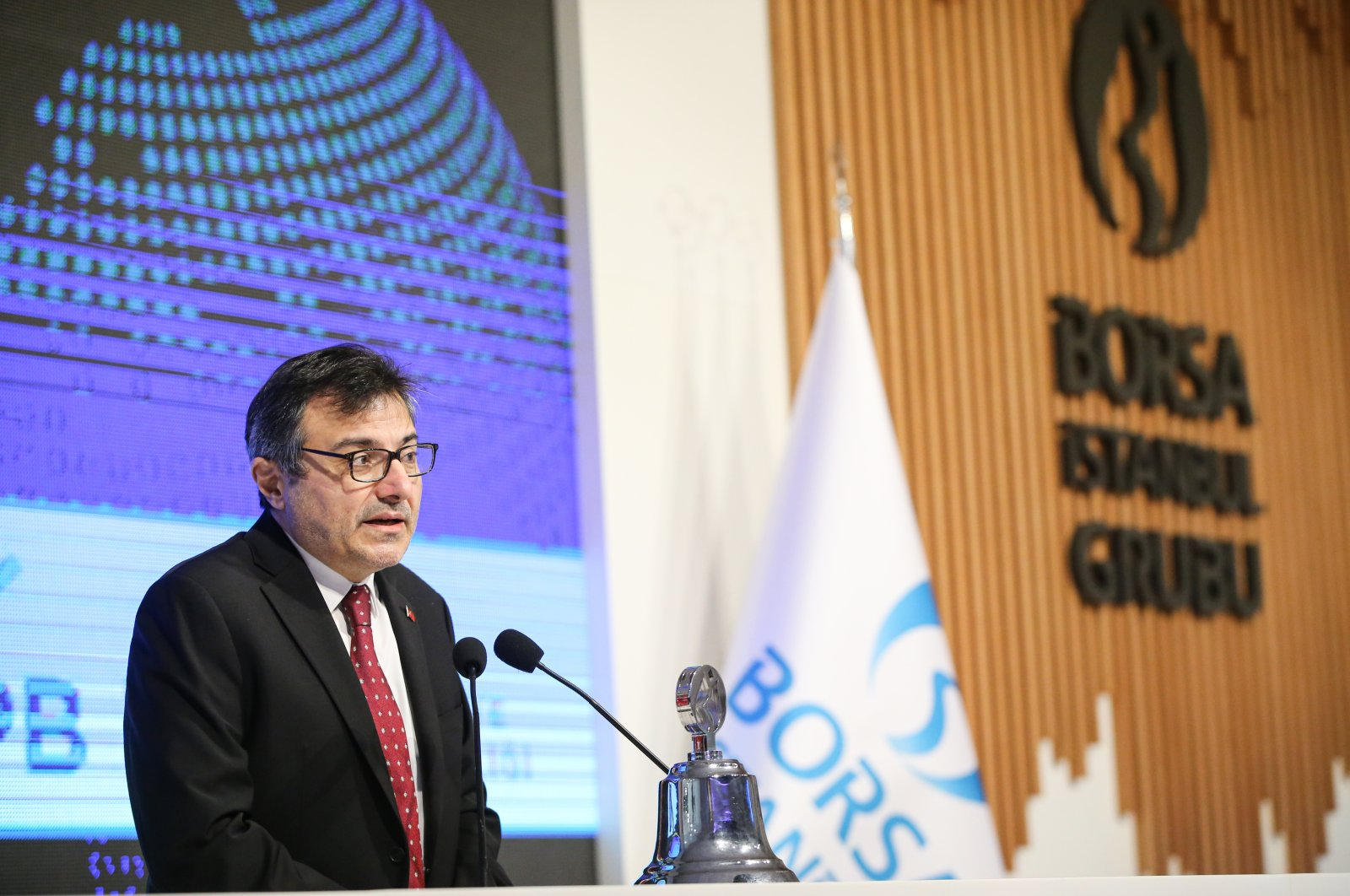 Göksel Asan, head of the presidency's Finance Office, delivers a speech at the World Investor Day in Istanbul, Turkey, Nov. 16, 2020. (AA Photo)
