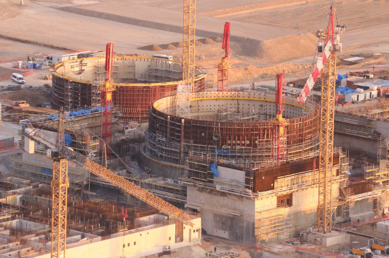Construction site at the Akkuyu NPP in Mersin, southern Turkey, Nov. 11, 2020. (IHA Photo)