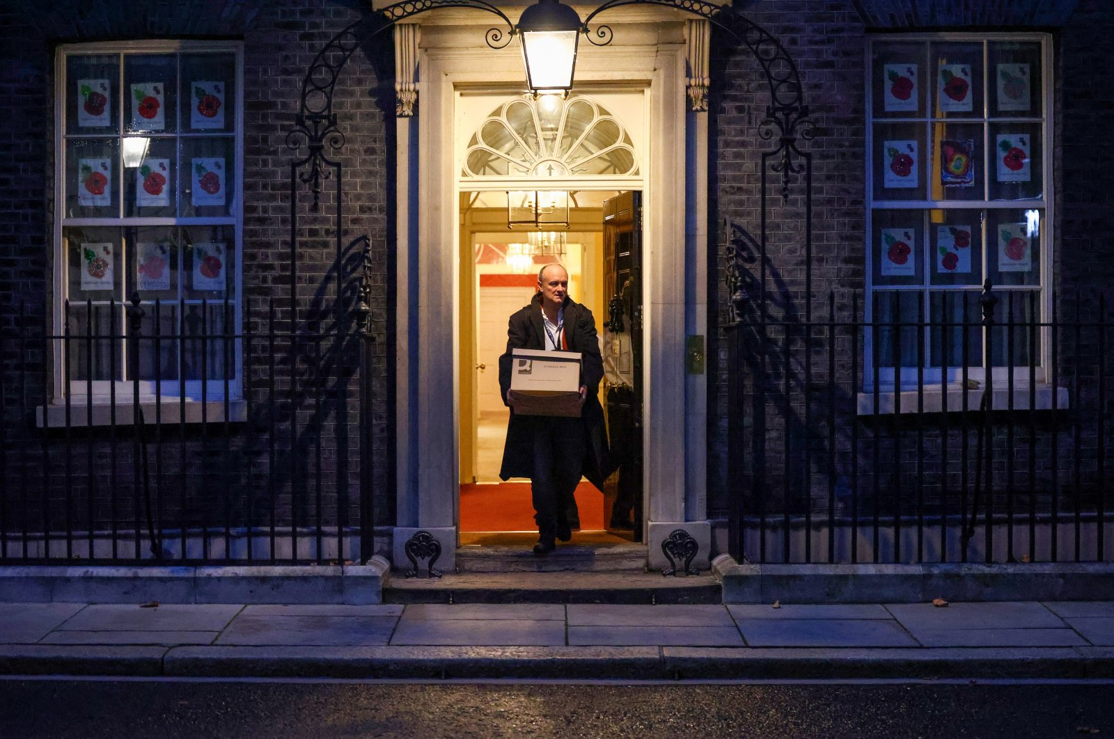 Dominic Cummings, special advisor for U.K. Prime Minister Boris Johnson, leaves 10 Downing Street, in London, Britain, Nov. 13, 2020. (Reuters Photo)