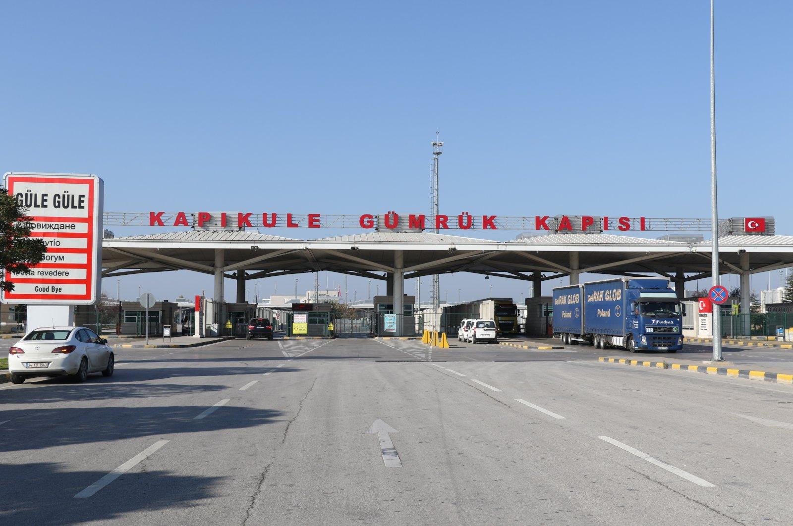 Kapıkule Border Gate in northwestern Turkey's Edirne province bordering Bulgaria, Nov. 17, 2020. (IHA Photo)
