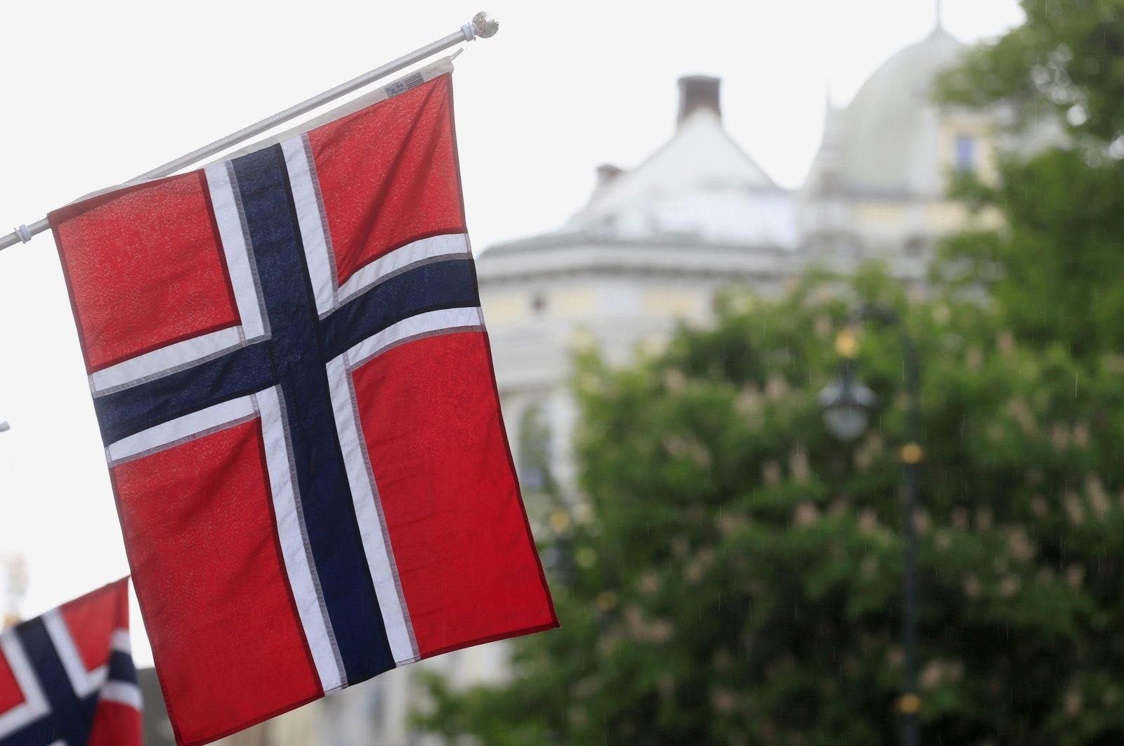 Norwegian flags flutter at Karl Johans street in Oslo, Norway, May 31, 2017. (Reuters Photo)