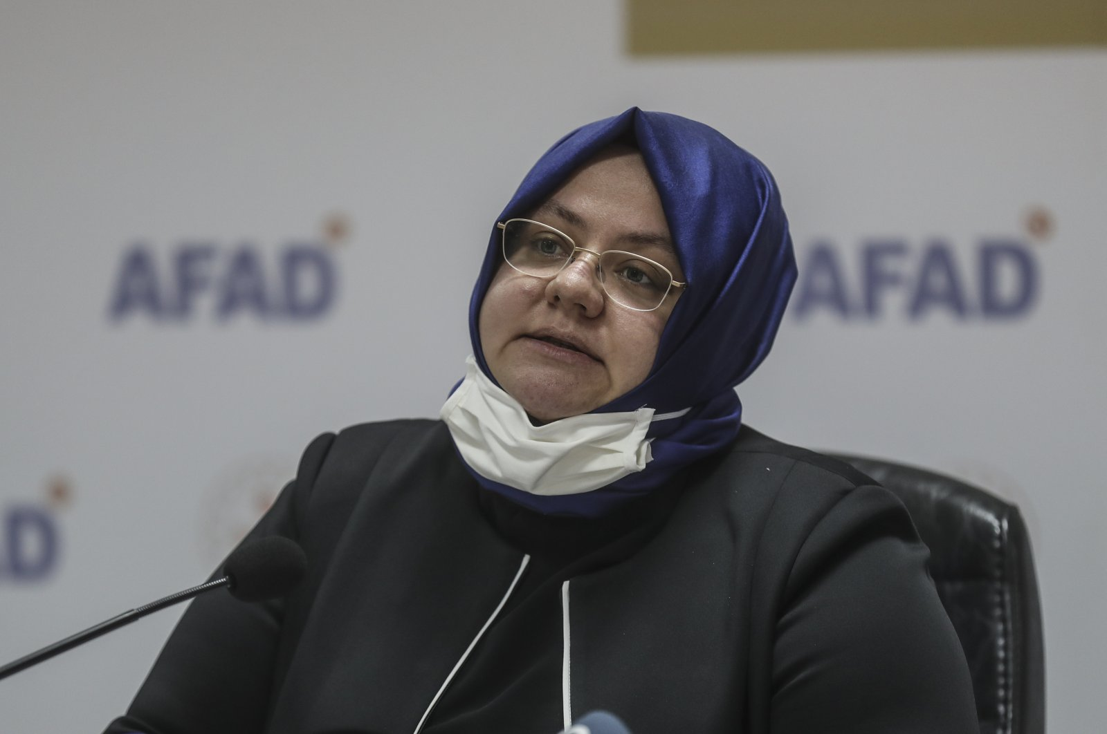 Turkey's Family, Labor and Social Services Minister Zehra Zümrüt speaks during a press conference, Nov. 3, 2020. (AA Photo)