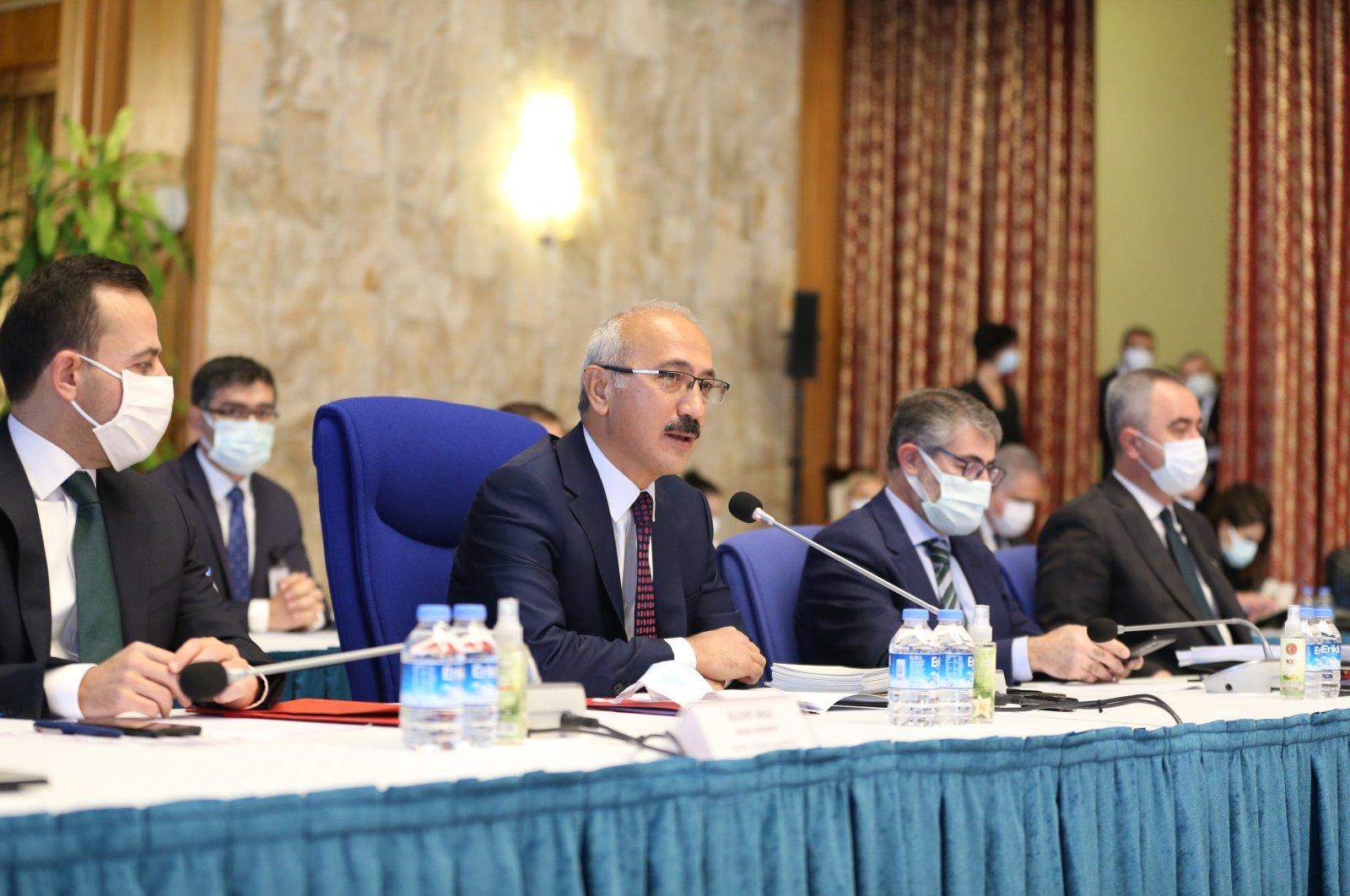 Treasury and Finance Minister Lütfi Elvan speaks at the 2021 budget meeting in the capital Ankara, Turkey, Nov. 17, 2020. (AA Photo)