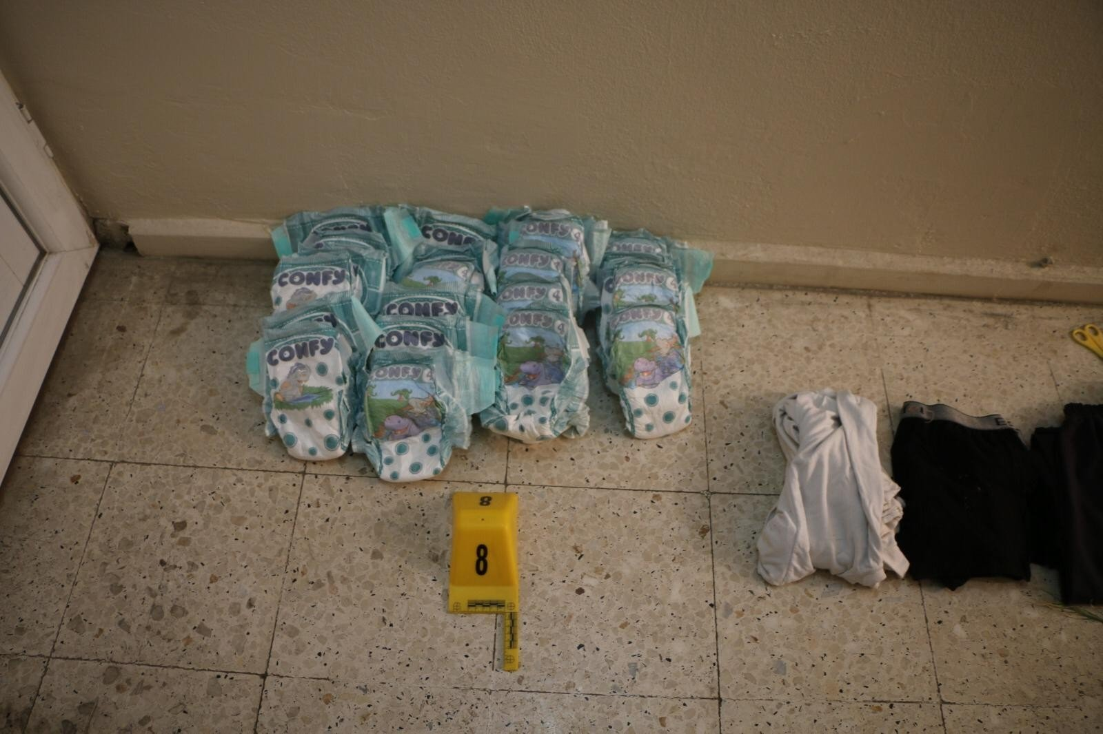 Bombs were discovered hidden inside a pack of baby diapers brought into Turkey by PKK terrorists through the Syrian border
