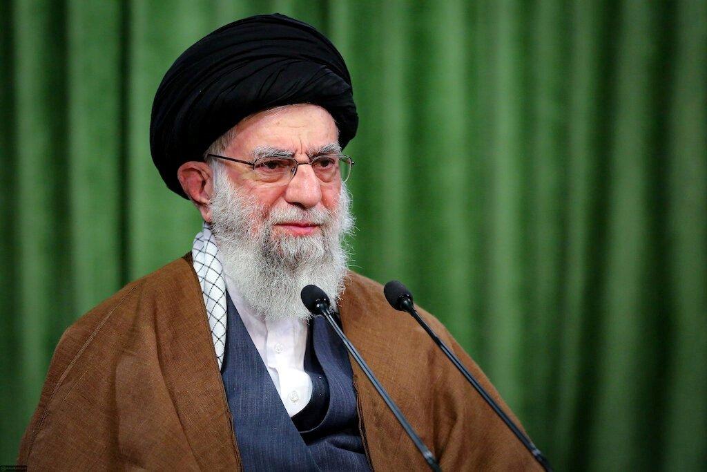 Iran's Supreme Leader Ayatollah Ali Khamenei delivers a virtual speech, on the occasion of the Prophet Muhammad's birthday, in Tehran, Iran Nov. 3, 2020. (Reuters Photo)