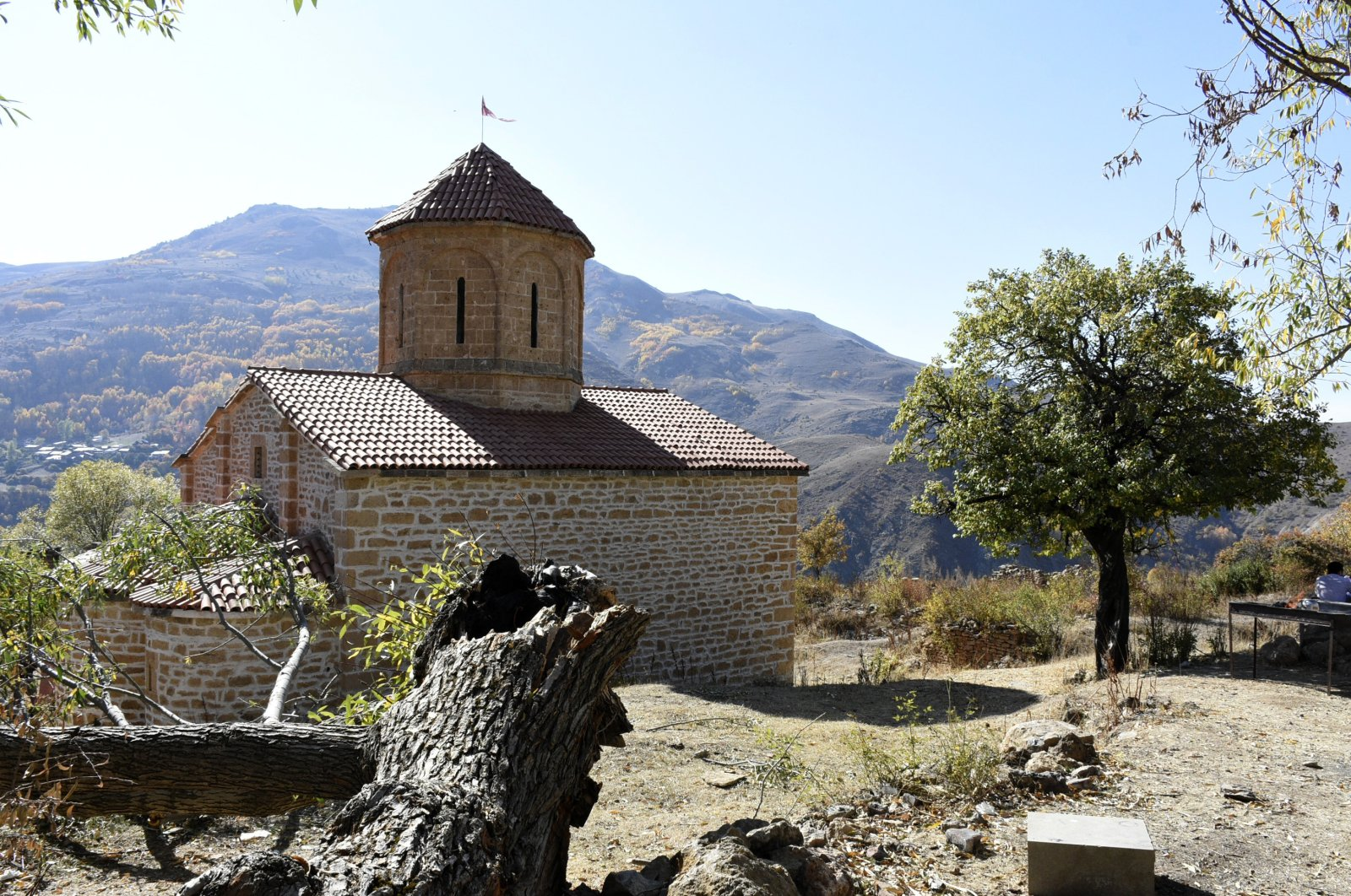 The Christian Orthodox, gothic style Imera Monastery in Gümüşhane, northeastern Turkey, Nov. 18, 2020. (AA PHOTO)