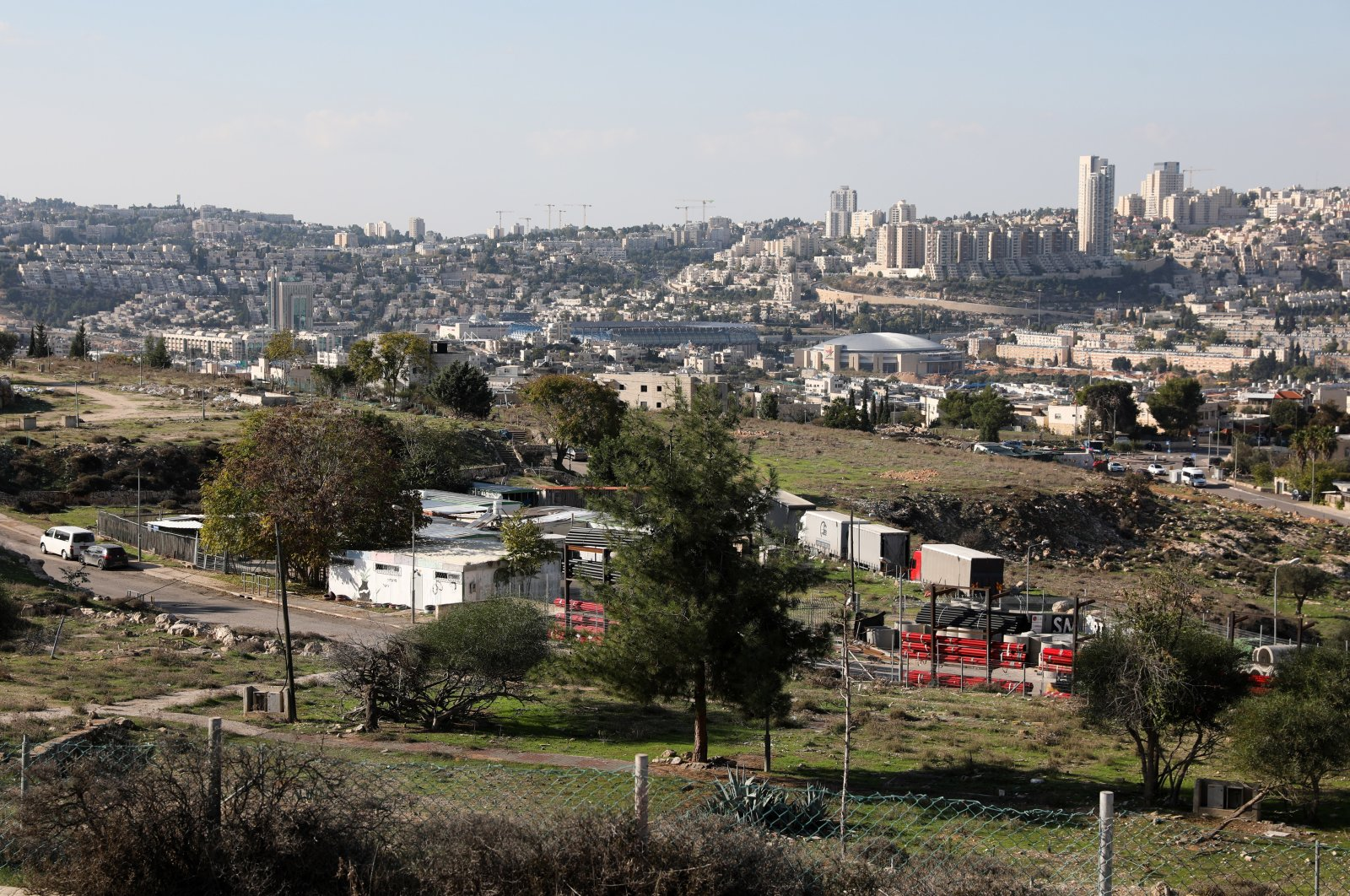 A general view of the Givat Hamatos Jewish Settlement neighborhood in east Jerusalem, Nov. 17, 2020. (EPA Photo)