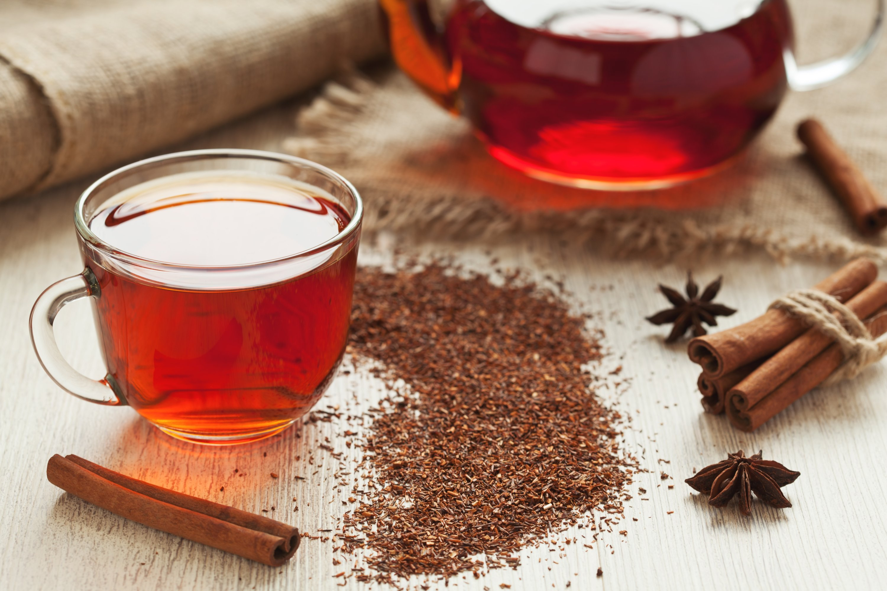 Also known as red tea or red bush tea, rooibos tea is native to South Africa. (Shutterstock Photo)