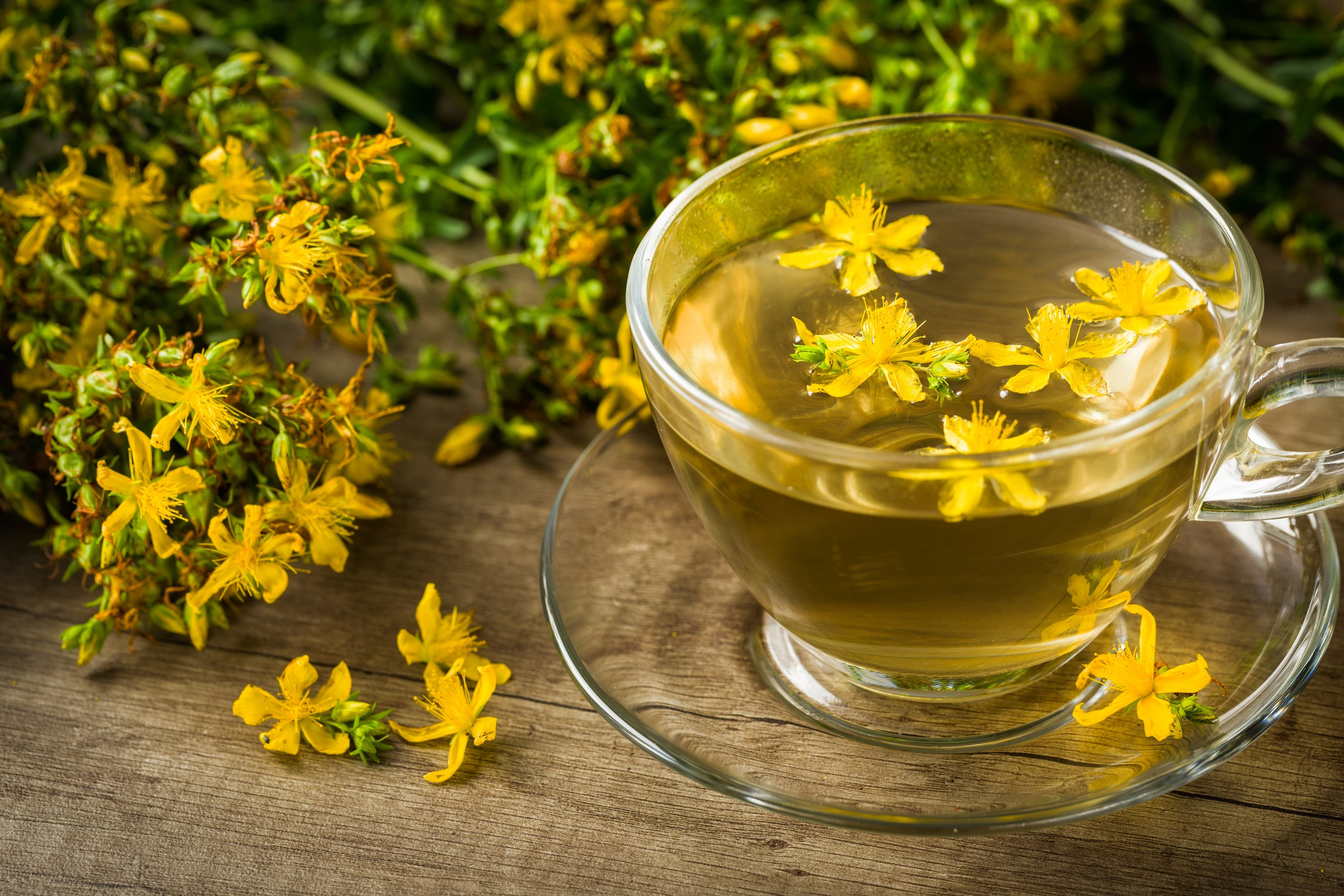 Made from the flowers of the St. John's Wort plant, this tea can alleviate symptoms of depression. (Shutterstock Photo)