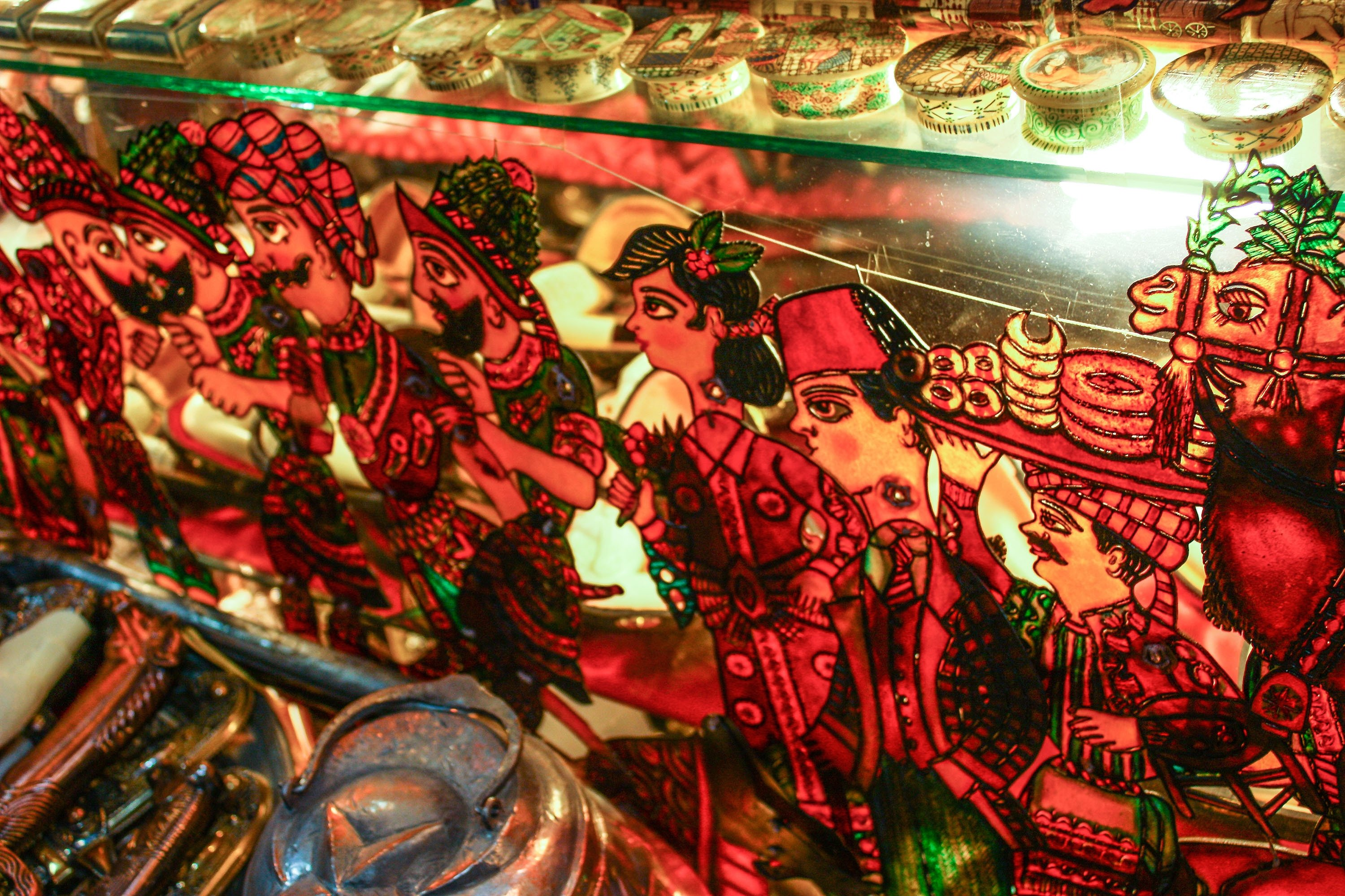Some puppets used at Karagöz and Hacivat shadow play. (Shutterstock Photo)