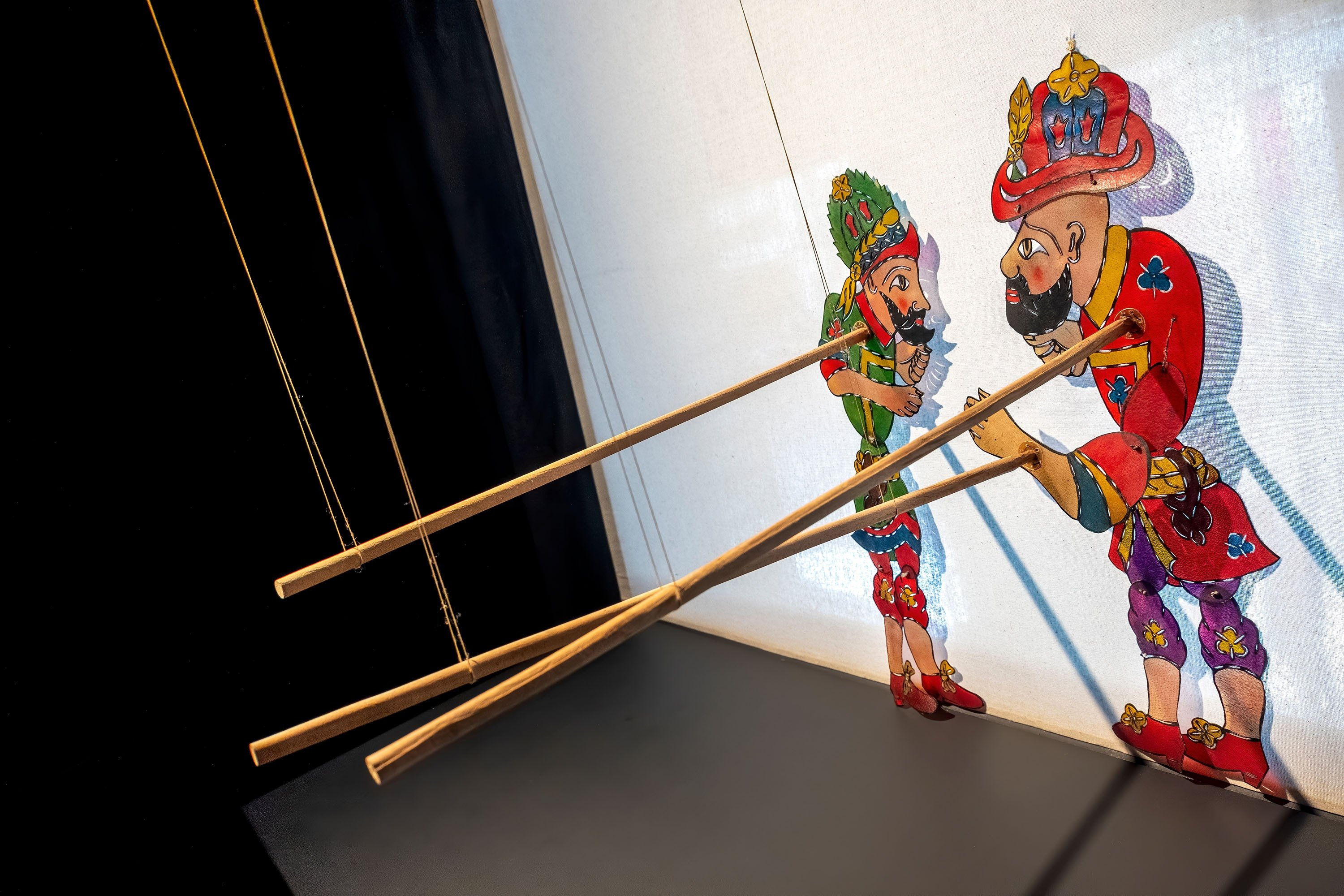 Karagöz and Hacivat shadow play was performed in the palace, mansions, houses and coffeehouses at special occasions in the 16th century. (Shutterstock Photo)