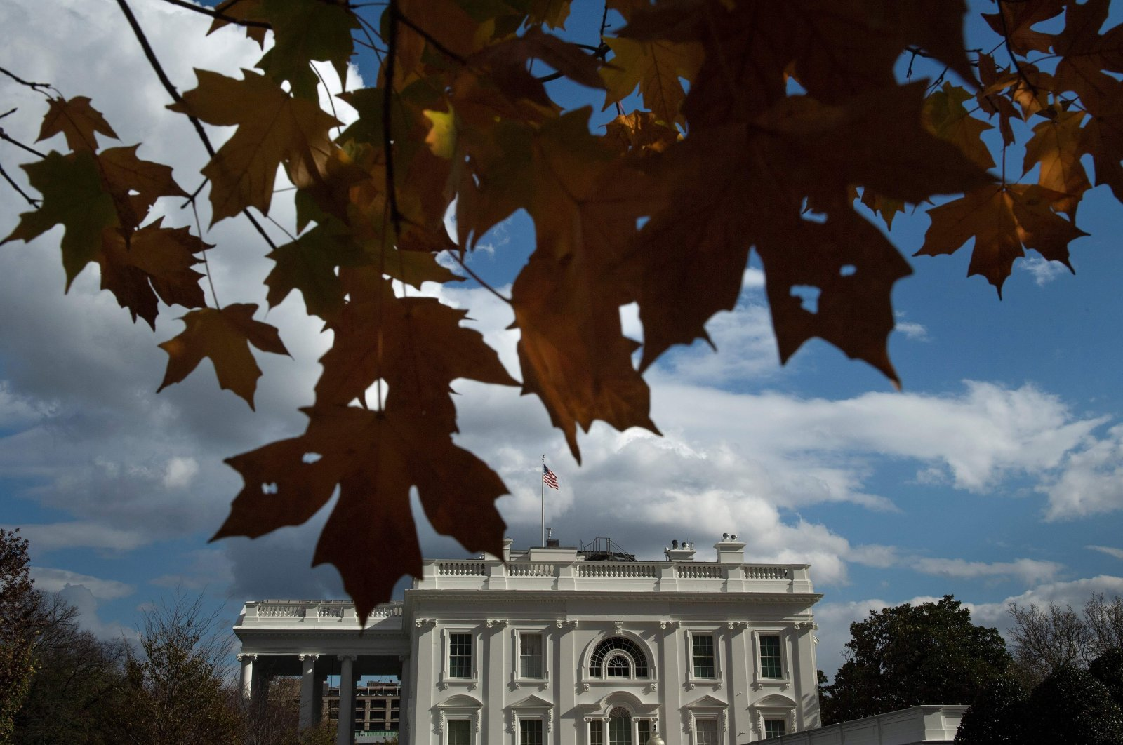 A view of the White House is seen on November 17, 2020, in Washington, DC. (AFP Photo)