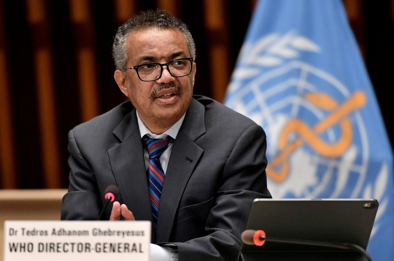 World Health Organization (WHO) Director-General Tedros Adhanom Ghebreyesus attends a news conference in Geneva, Switzerland, July 3, 2020. (Reuters Photo)