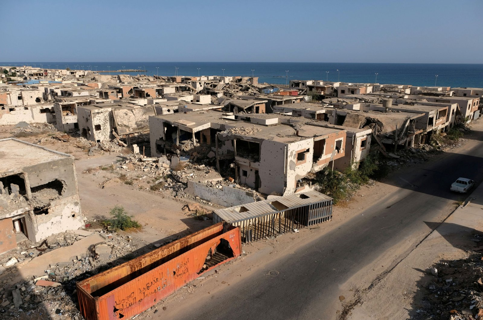 Buildings destroyed during past fighting with Islamic State militants are seen in Sirte, Libya Aug.18, 2020. (Reuters Photo)
