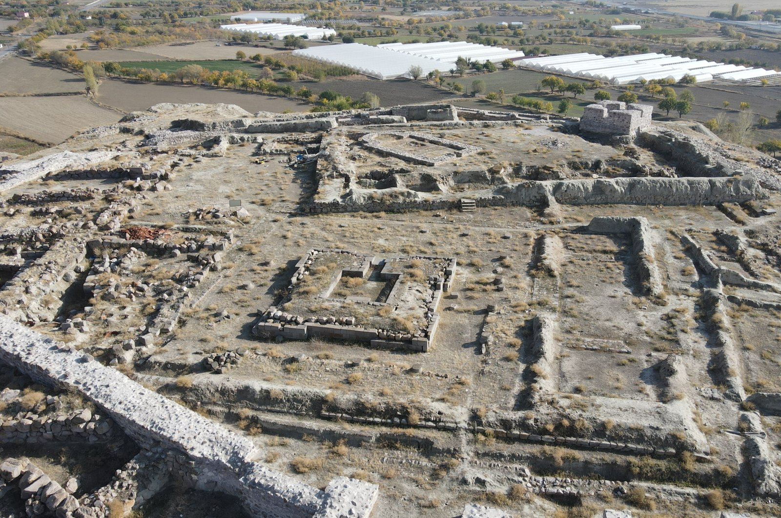 A general view of the ruins of Altıntepe Fortress, Erzincan, eastern Turkey, Nov. 19, 2020. (AA Photo)