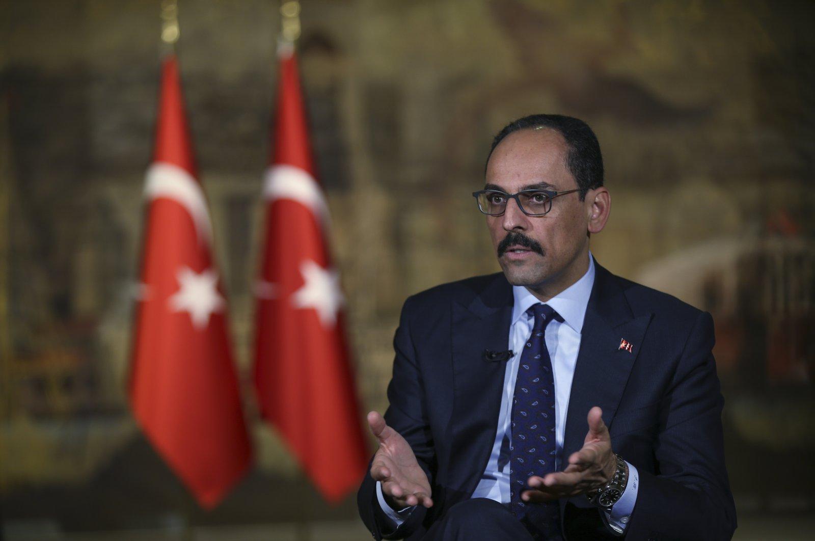 Presidential Spokesperson Ibrahim Kalın speaks during an interview in Istanbul, Saturday, Oct. 19, 2019. (AP File Photo)
