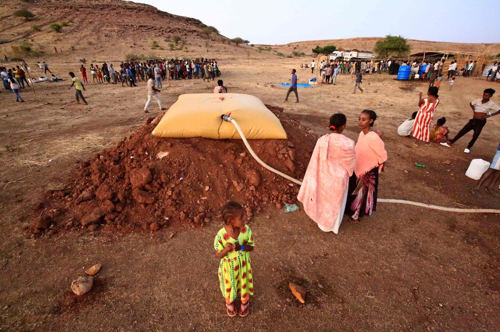 Ethiopian refugees who fled fighting in Tigray province are pictured at the Um Rakuba camp in Sudan's eastern Gedaref province, Nov. 19, 2020. (AFP Photo)