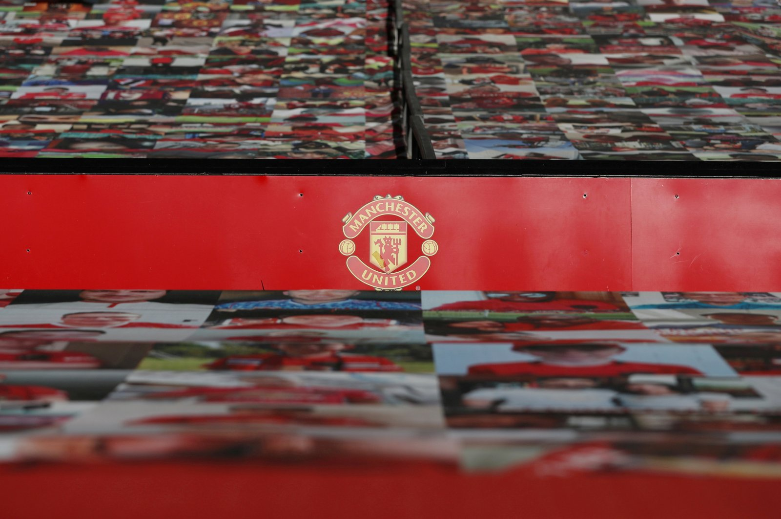 General view inside the stadium ahead of English Premier League football match between Manchester United and Crystal Palace at the Old Traford in Manchester, England, Sept. 19, 2020. (Reuters Photo)