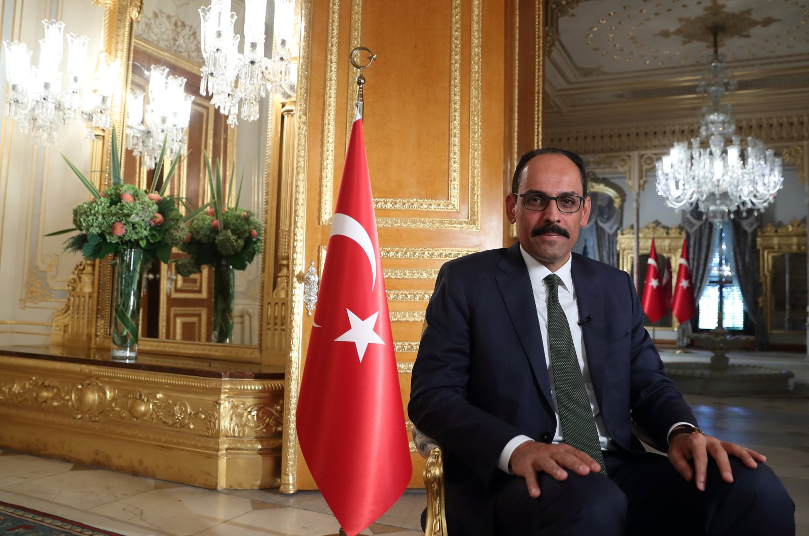 President Spokesperson Ibrahim Kalın is pictured during an interview with Reuters in Istanbul, Turkey Sept. 27, 2020. (Reuters Photo)
