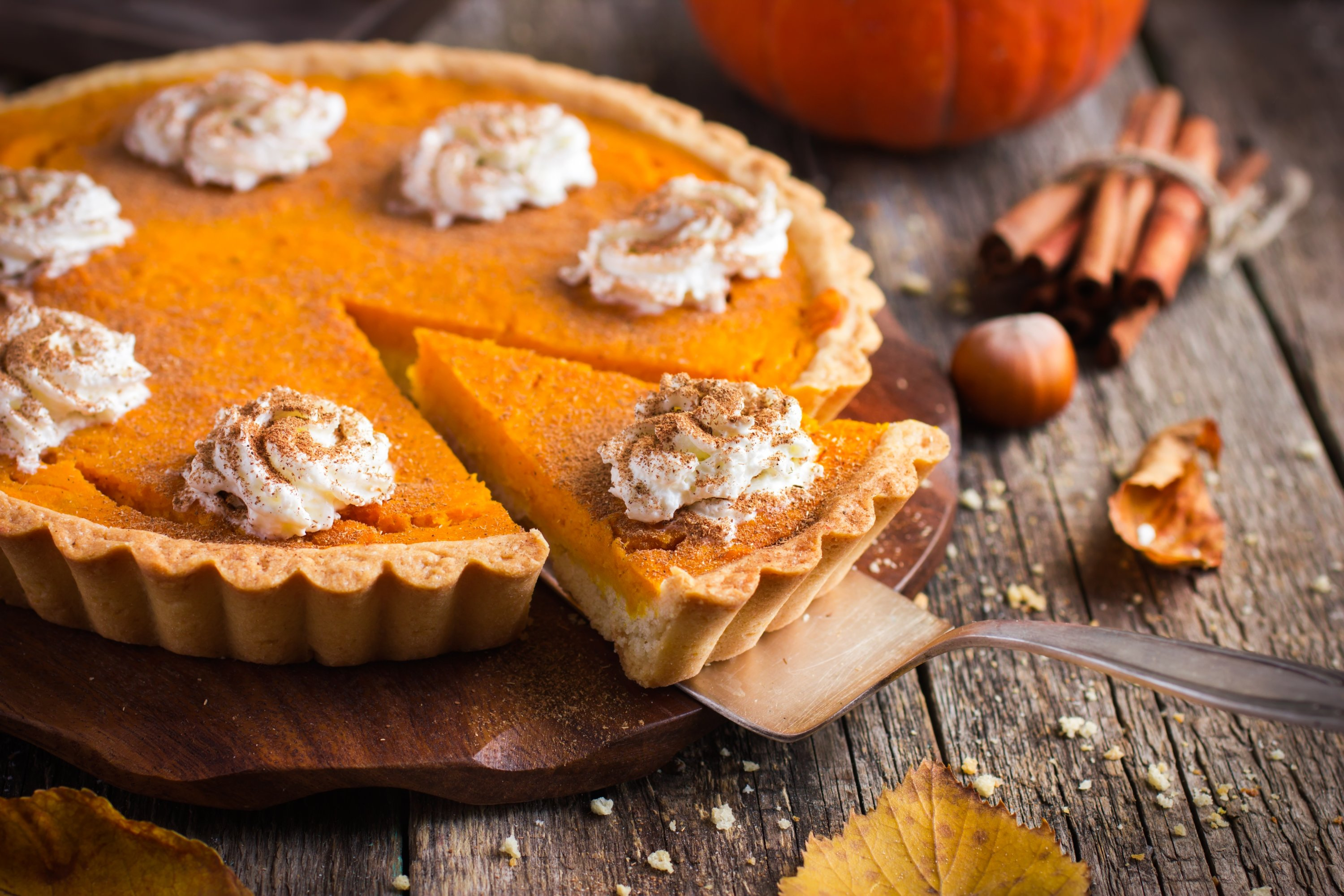 If you want your pumpkin pie to have a flakier crust, don't forget to chill your dough. (Shutterstock Photo)