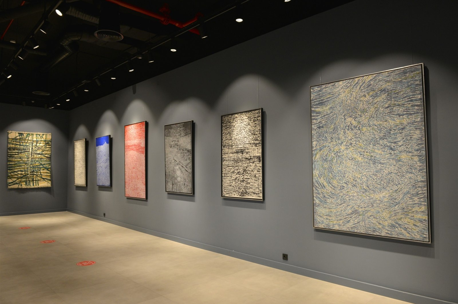 "A general view from ""New Paintings – New Touches"" in Ziraat Bank Çukurambar Art Gallery, Ankara."