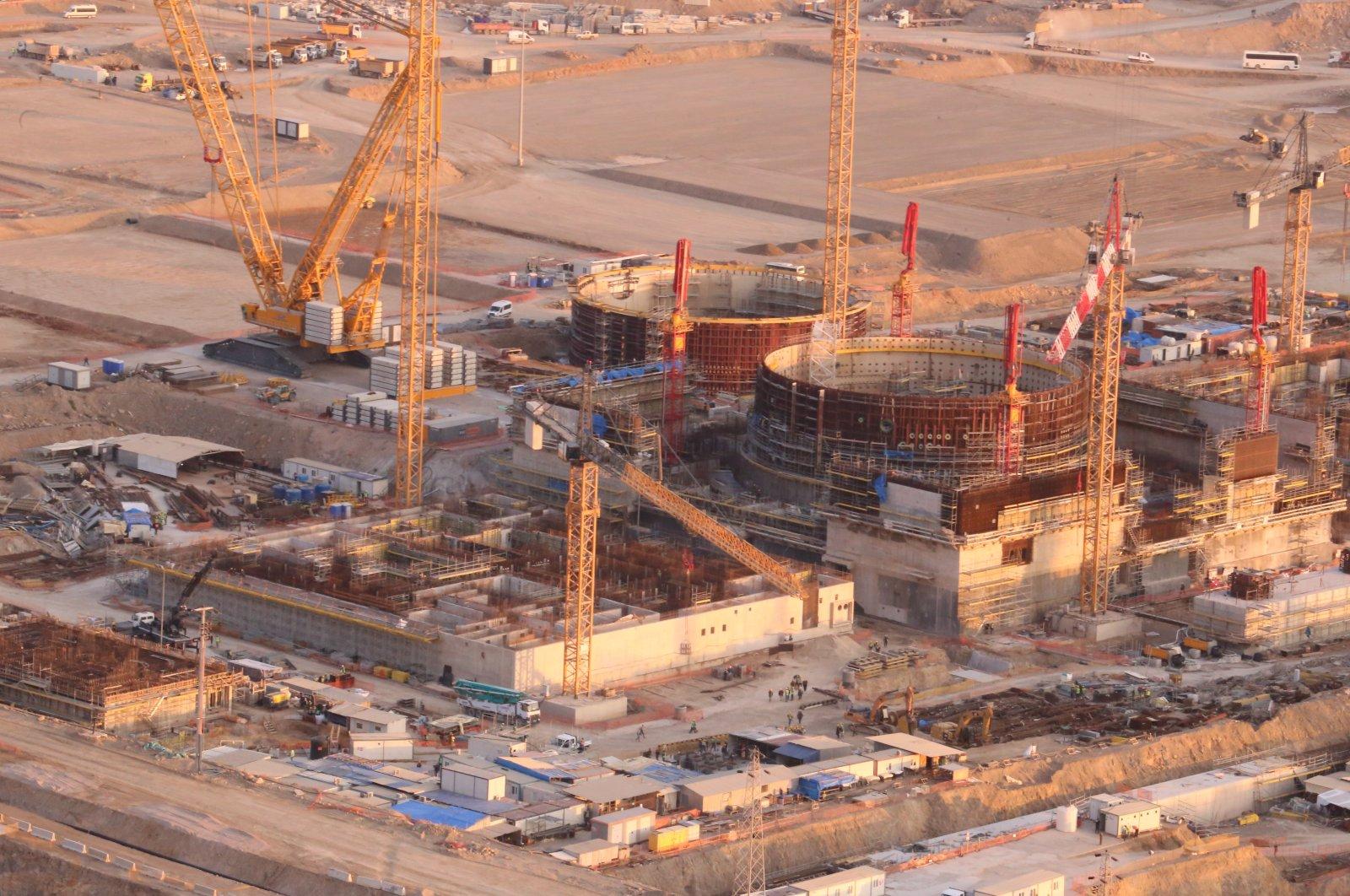 Construction site at the Akkuyu NPP in Mersin, southern Turkey, Nov. 11, 2020. (AA Photo)